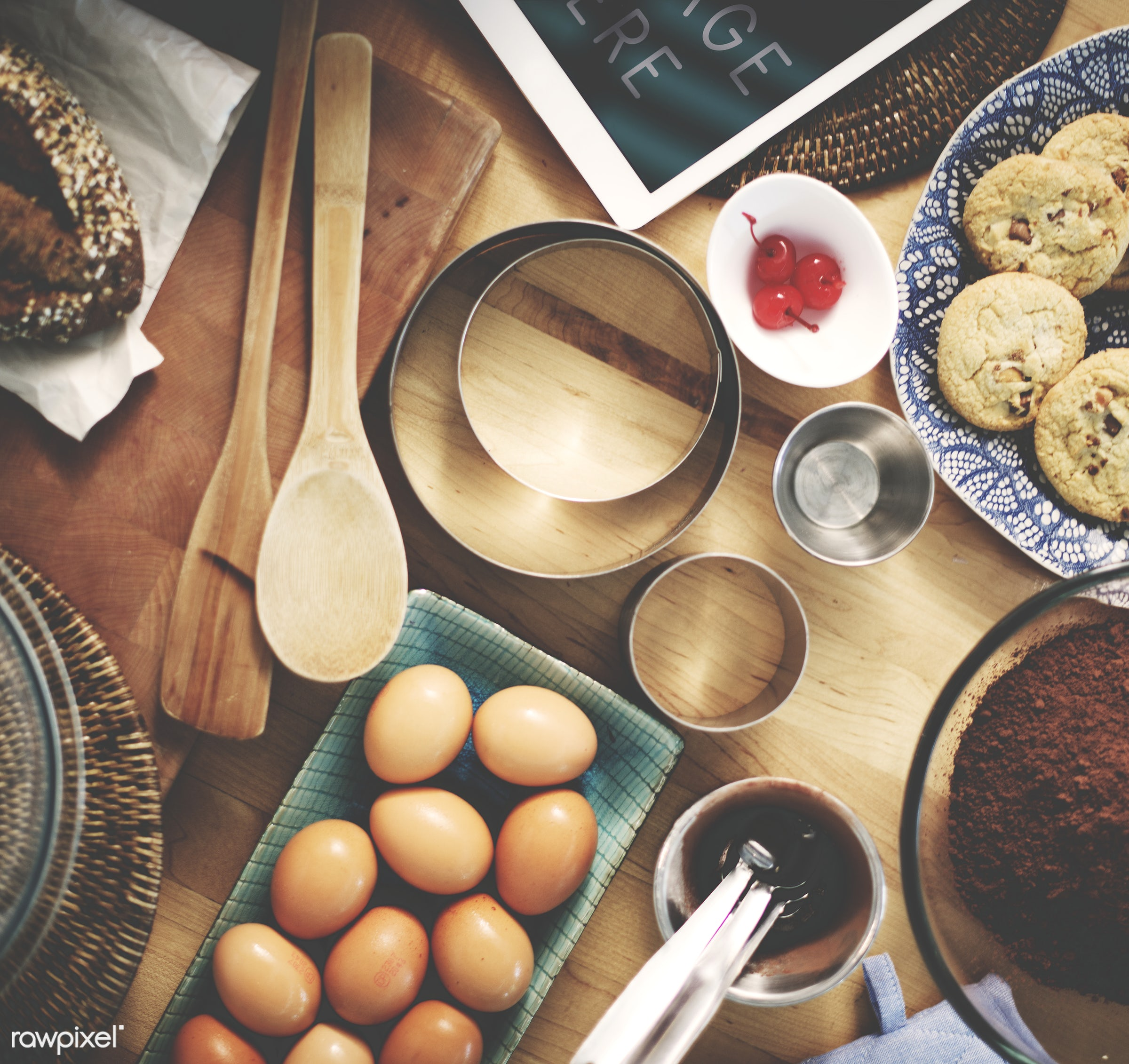 bake, bake shop, bakery, baking, chocolate chip cookies, cook, cookies, cooking, cutlery, delicious, eggs, equipment, food,...