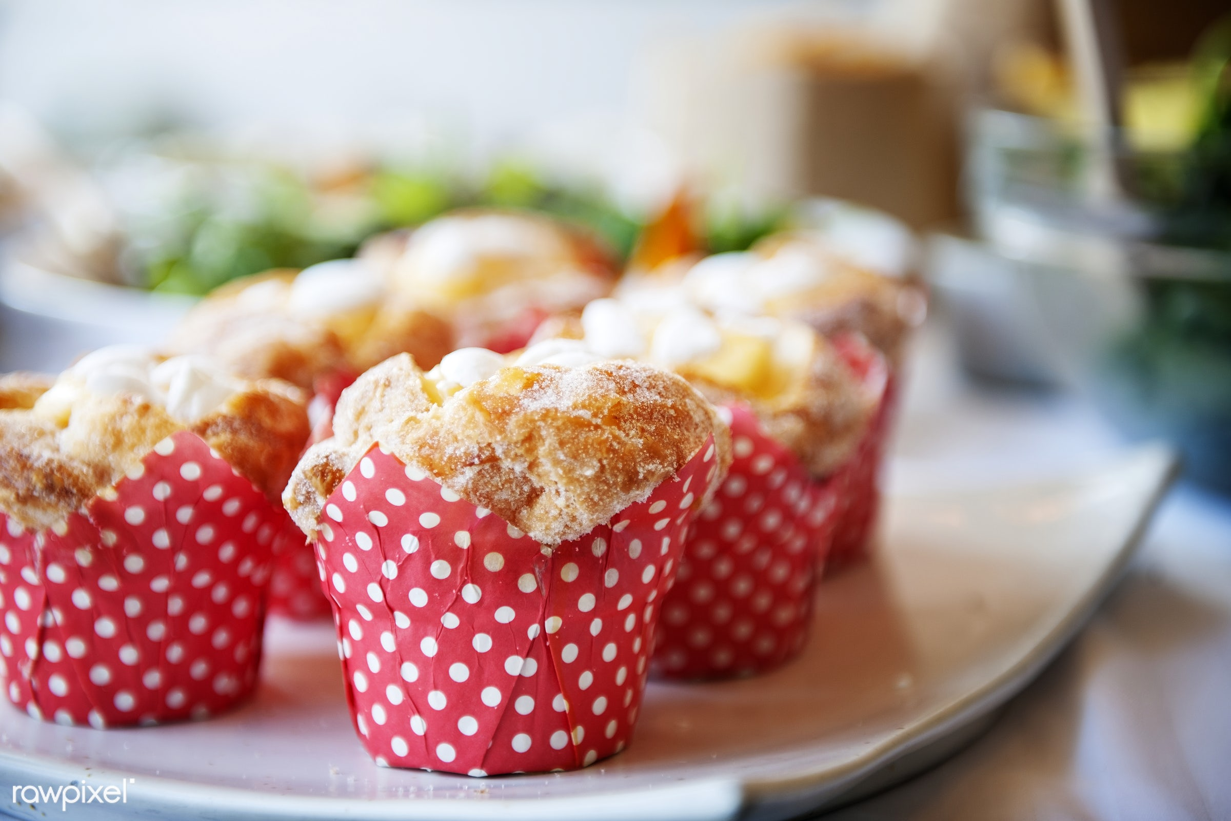 Fresh baked muffin - cake, catering, bake, baked, cafe, closeup, cup cake, dessert, eat, edible, event, food, fresh, muffin...