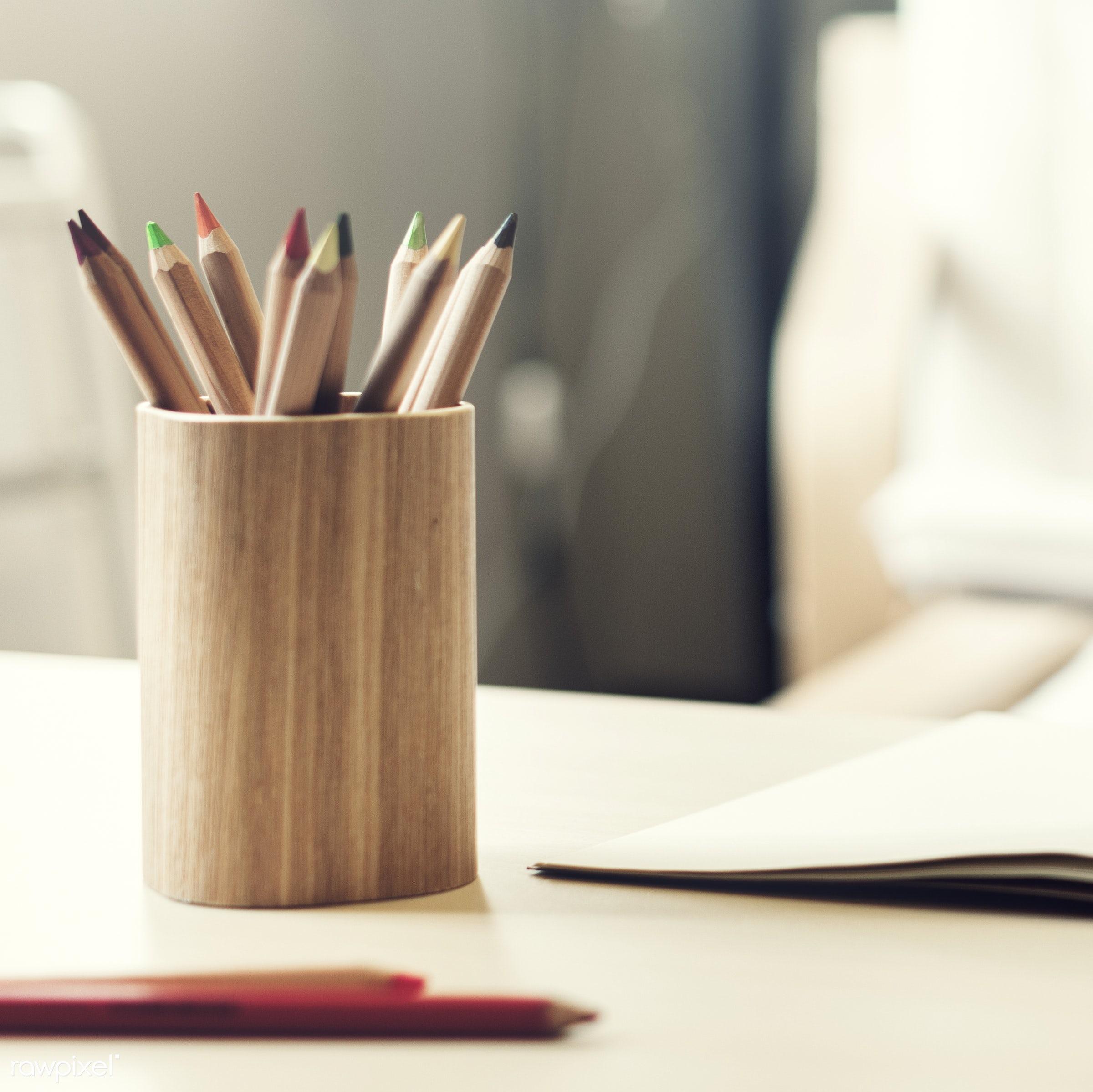 pencil, creativity, desk, crayon, creative, palette, arrangement, art, assortment, bright, collection, color, colorful, draw...