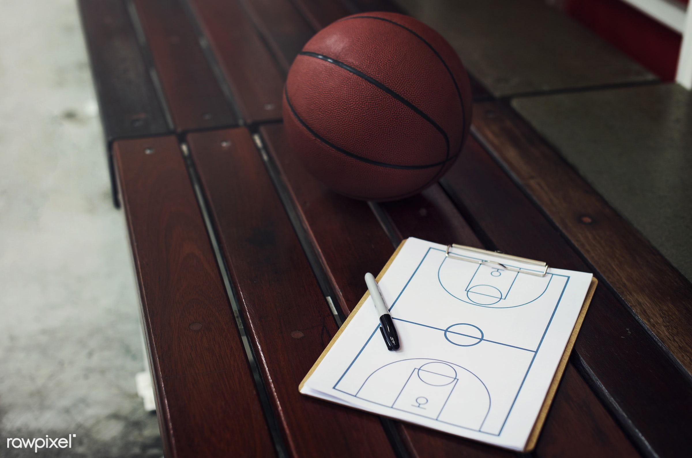 Young basketball player shoot - basketball, activity, ball, closeup, coach, court, exercise, game, nobody, object, paper,...