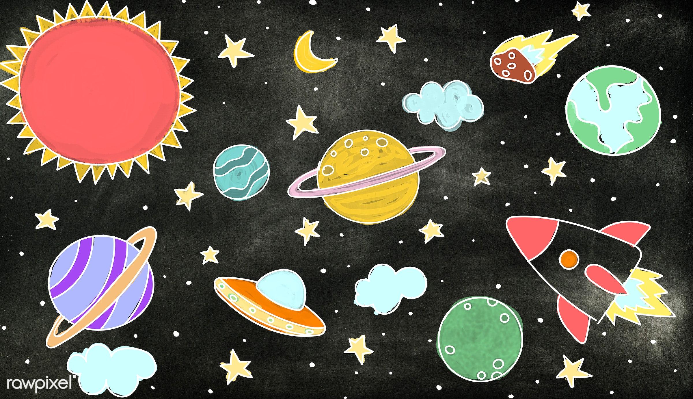 astrology, astronomy, background, black, blackboard, board, chalkboard, classroom, cosmos, curiosity, dirty, draw, drawing,...