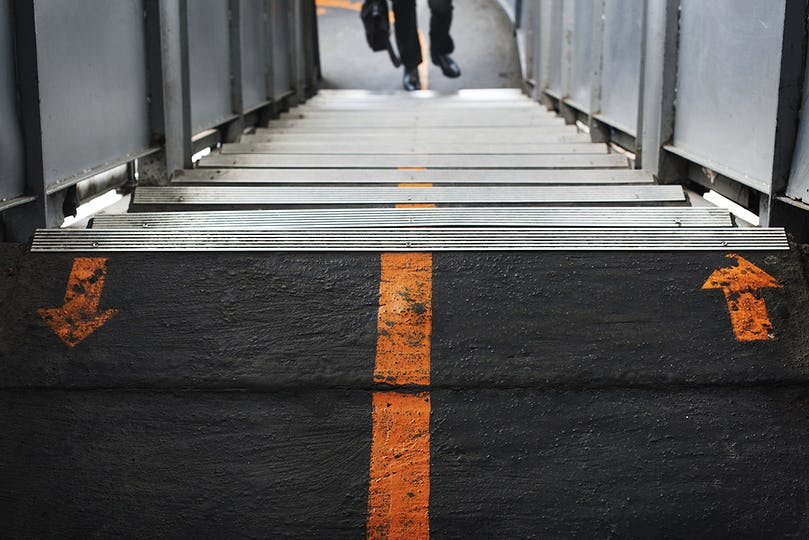 Train station walkway