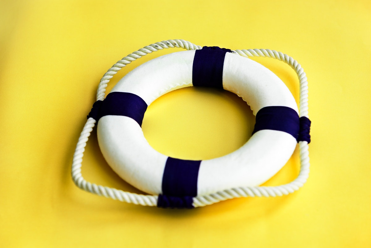 Lifebuoy Belt Rescue Survival Concept