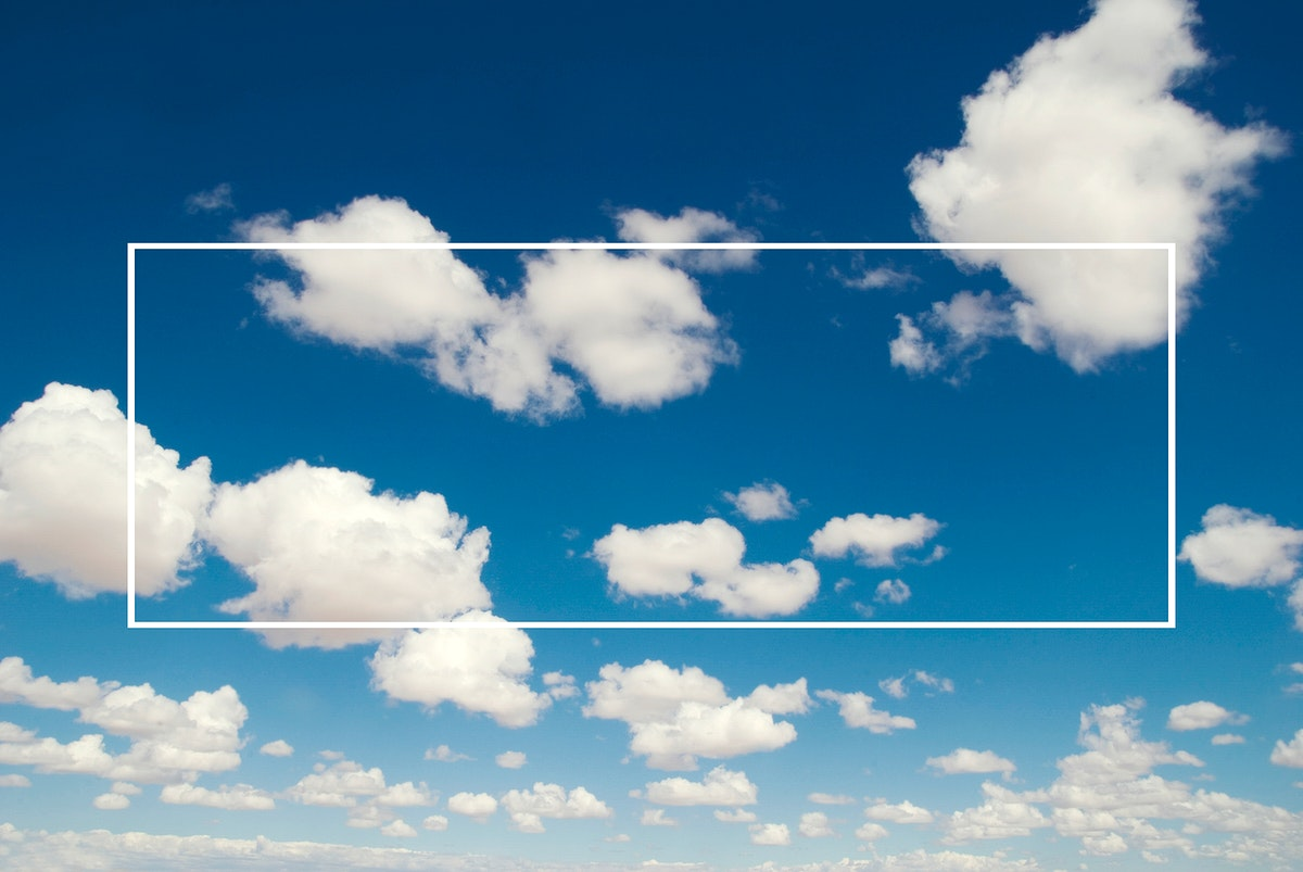 Graphic illustration rectangle shape banner on skyscape background