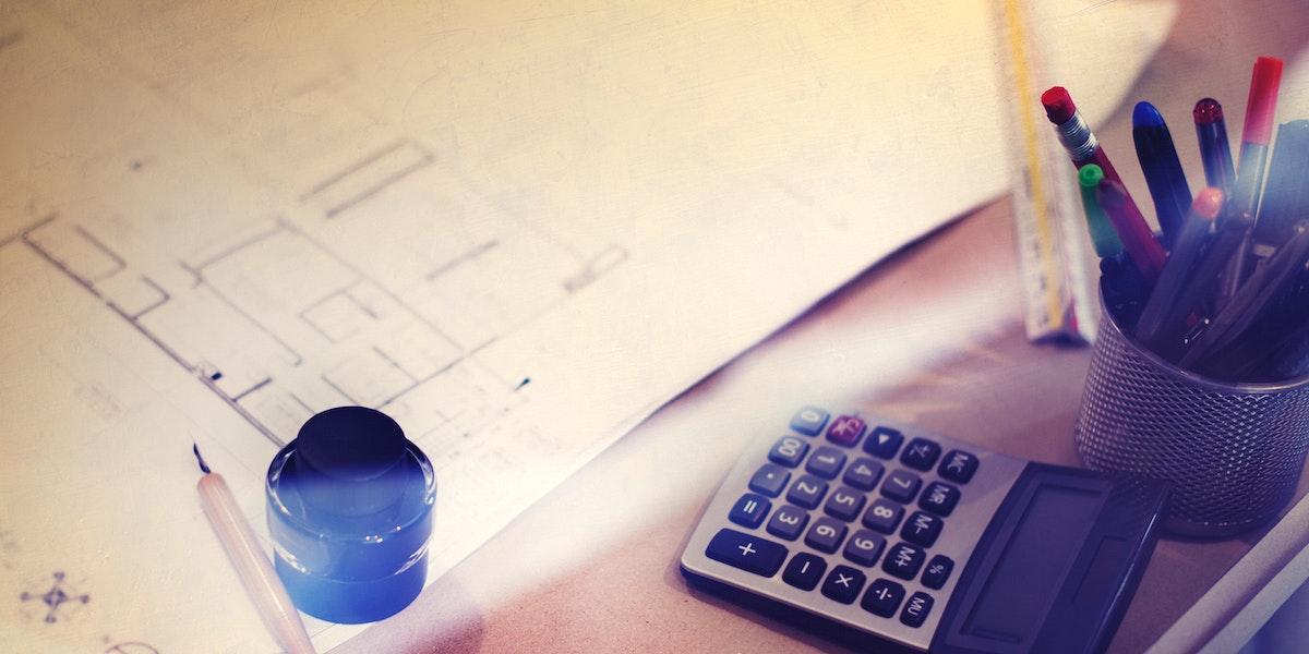 Closeup of blueprint architecture layout plan