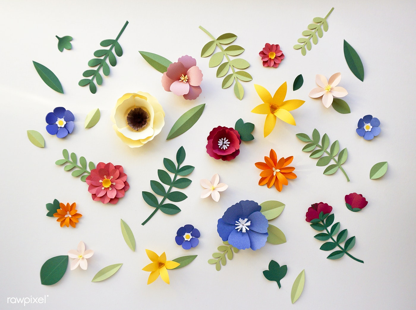 Flower Paper Craft Handmade Collection Id 261633