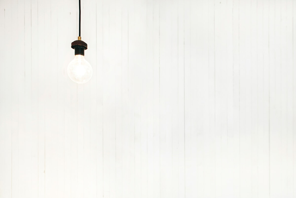 Light bulb with white background