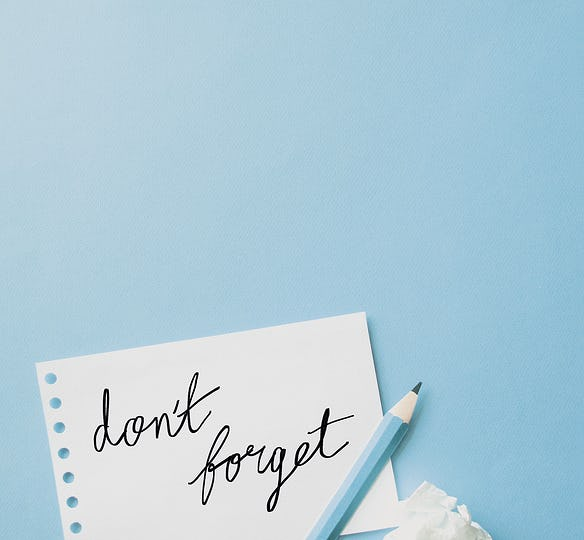 Don't forget notes