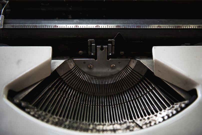 Typewriter Classic Editor Publish Concept