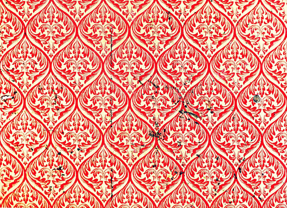 Red asian pattern background wallpaper