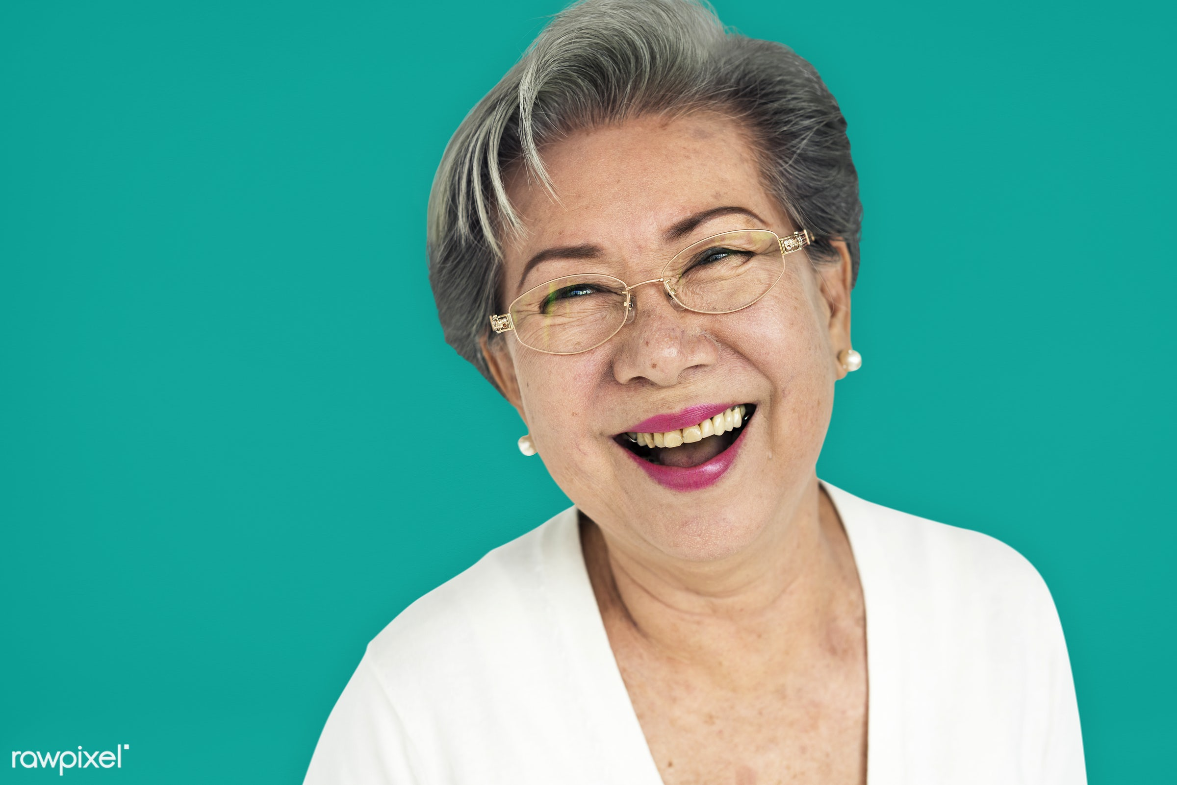 studio, expression, person, people, asian, woman, cheerful, smiling, isolated, happiness, portrait, emotion, confident,...