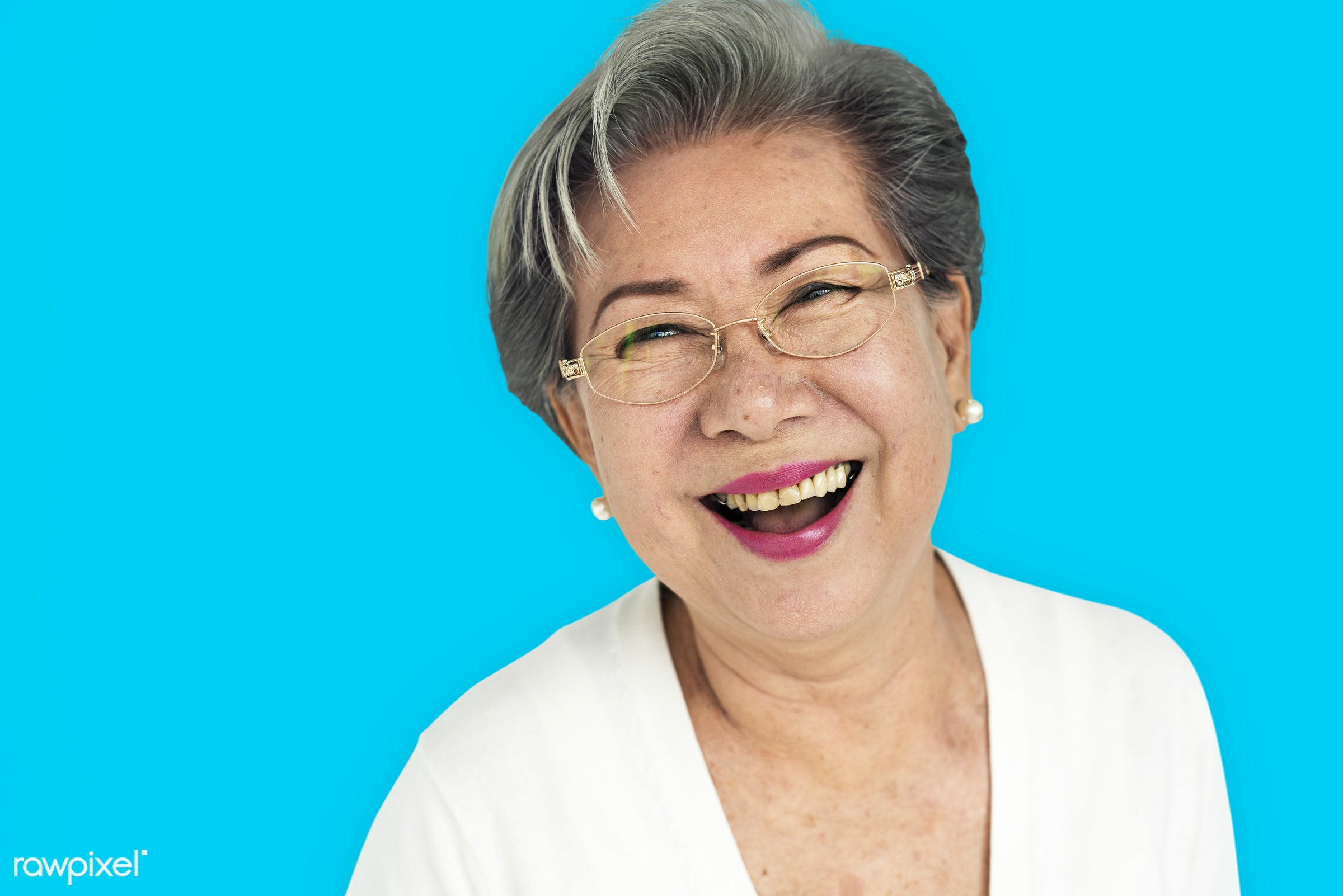 studio, expression, person, vibrant, people, asian, woman, cheerful, smiling, isolated, happiness, portrait, emotion,...