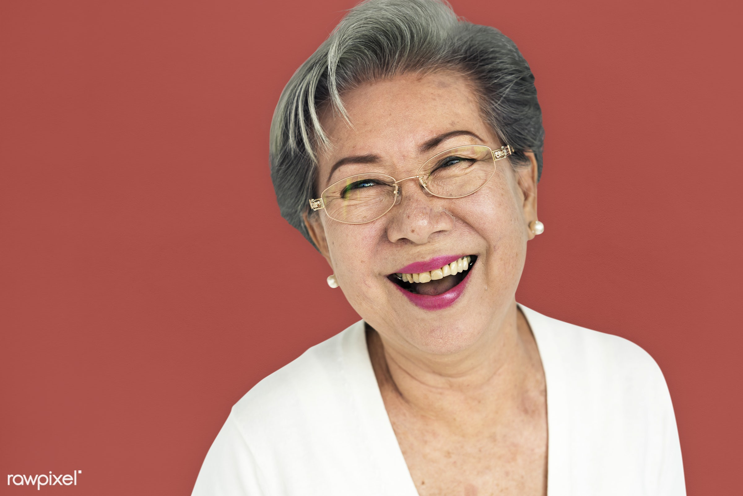 studio, expression, earth tone, person, people, asian, woman, cheerful, smiling, isolated, happiness, portrait, emotion,...