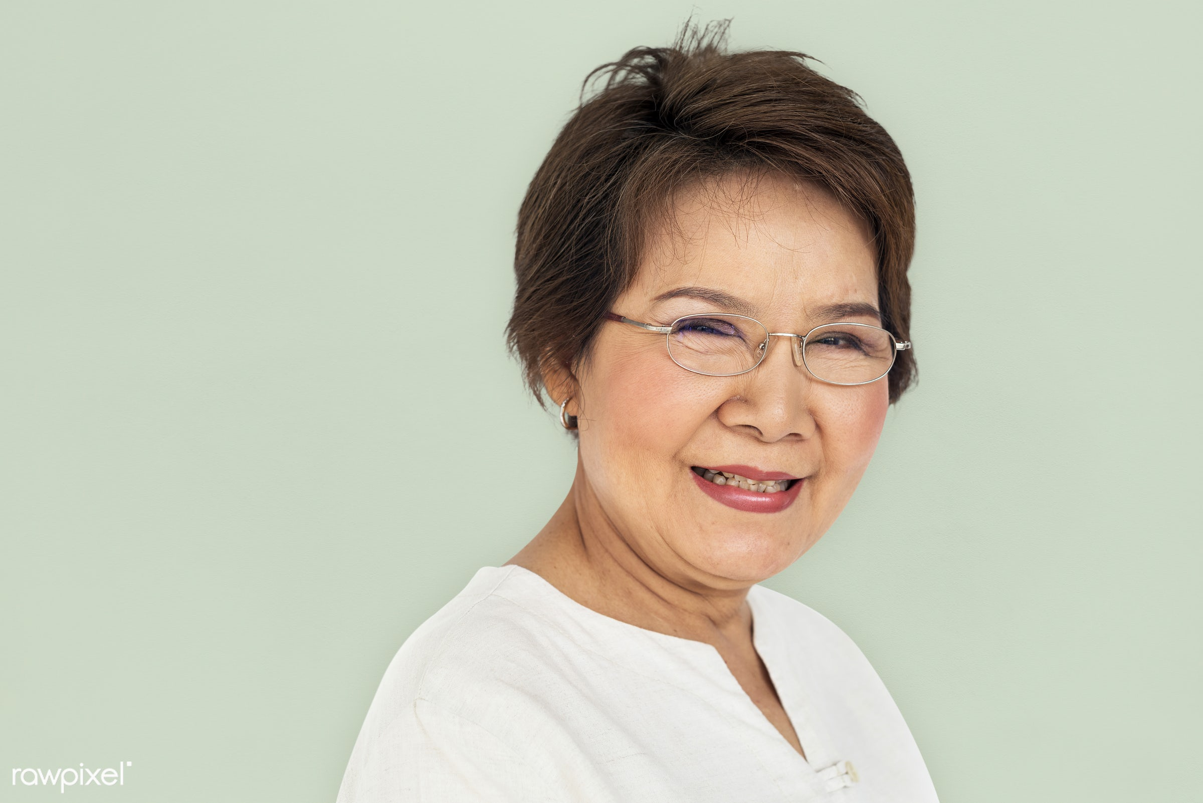 expression, studio, earth tone, person, people, asian, woman, cheerful, smiling, isolated, happiness, portrait, emotion,...