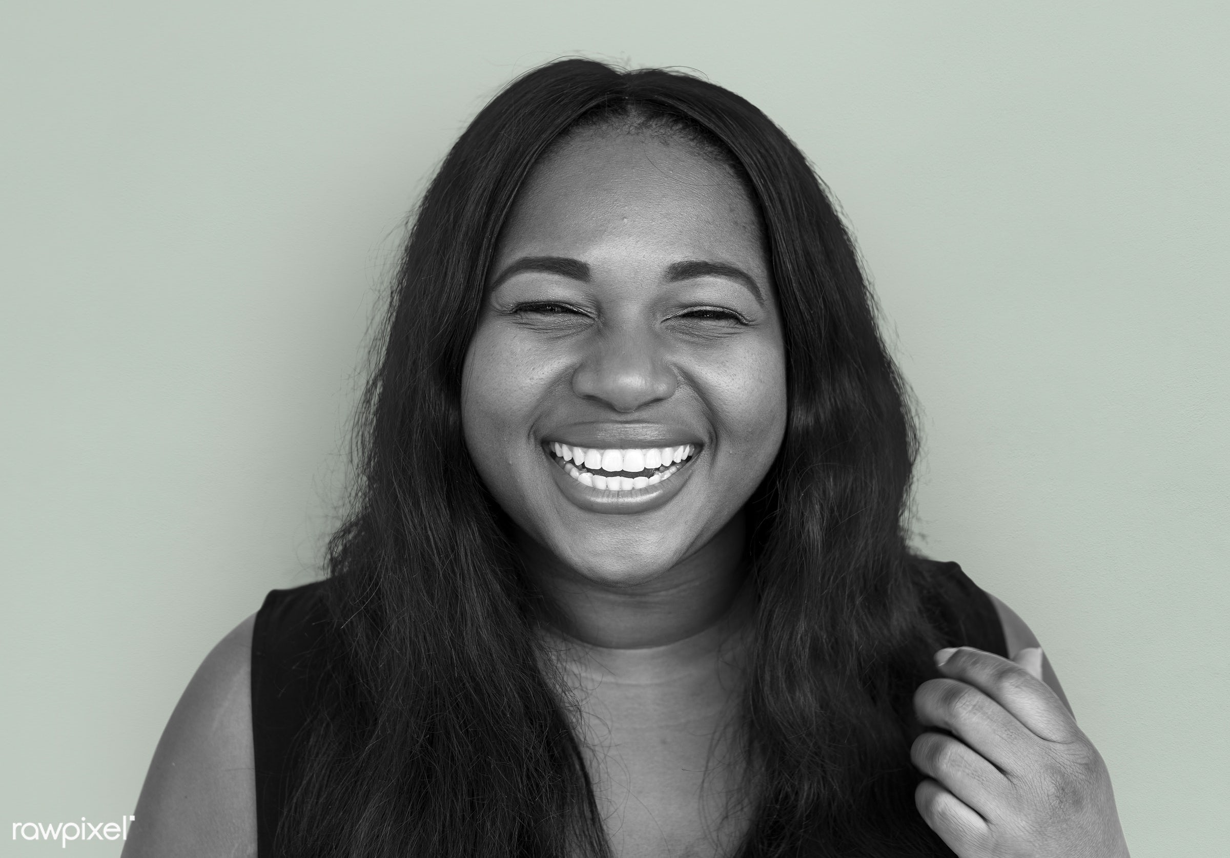 studio, expression, person, people, woman, smile, cheerful, smiling, african descent, happiness, portrait, emotion, charming...