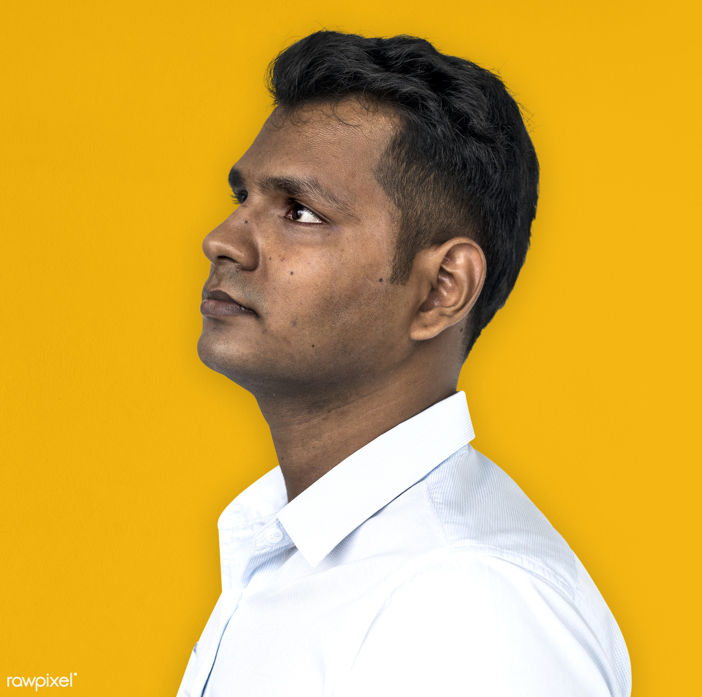 expression, intelligent, studio, person, wise, issue, yellow, people, business, looking, style, casual, serious, man, look,...