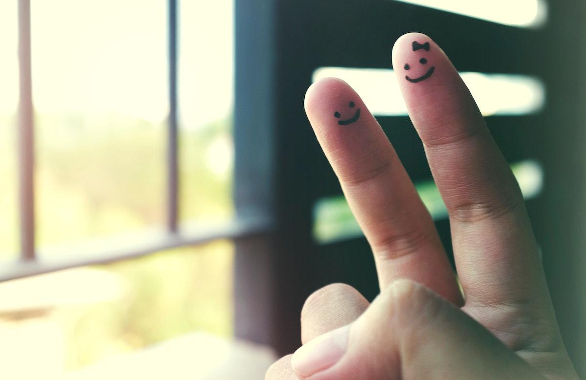 V Hand Sign Language Symbol Victory Peace Concept