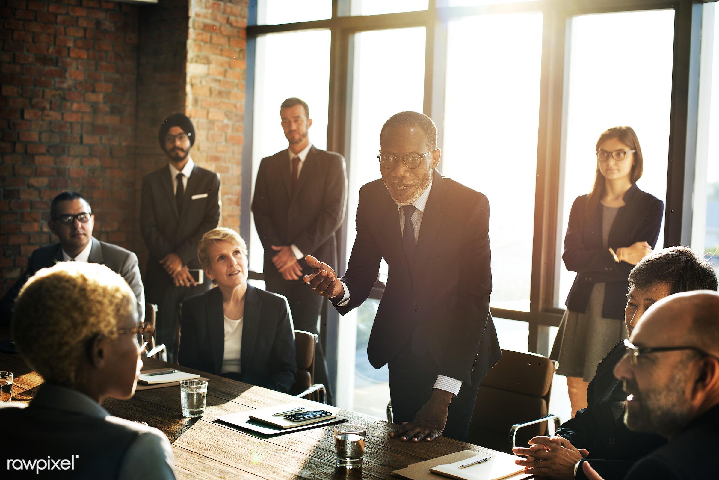 achievement, analysing, brainstorming, business, business people, businessmen, businesswomen, cheerful, communication,...