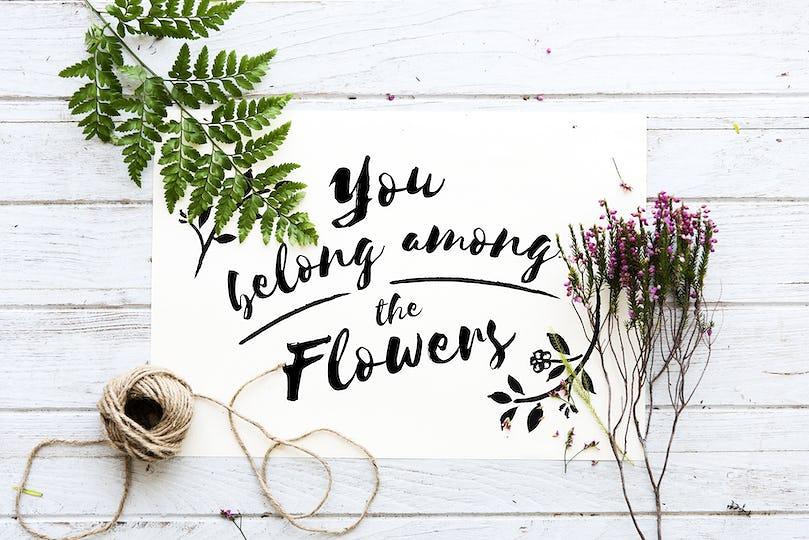 Flowers handicraft workshop