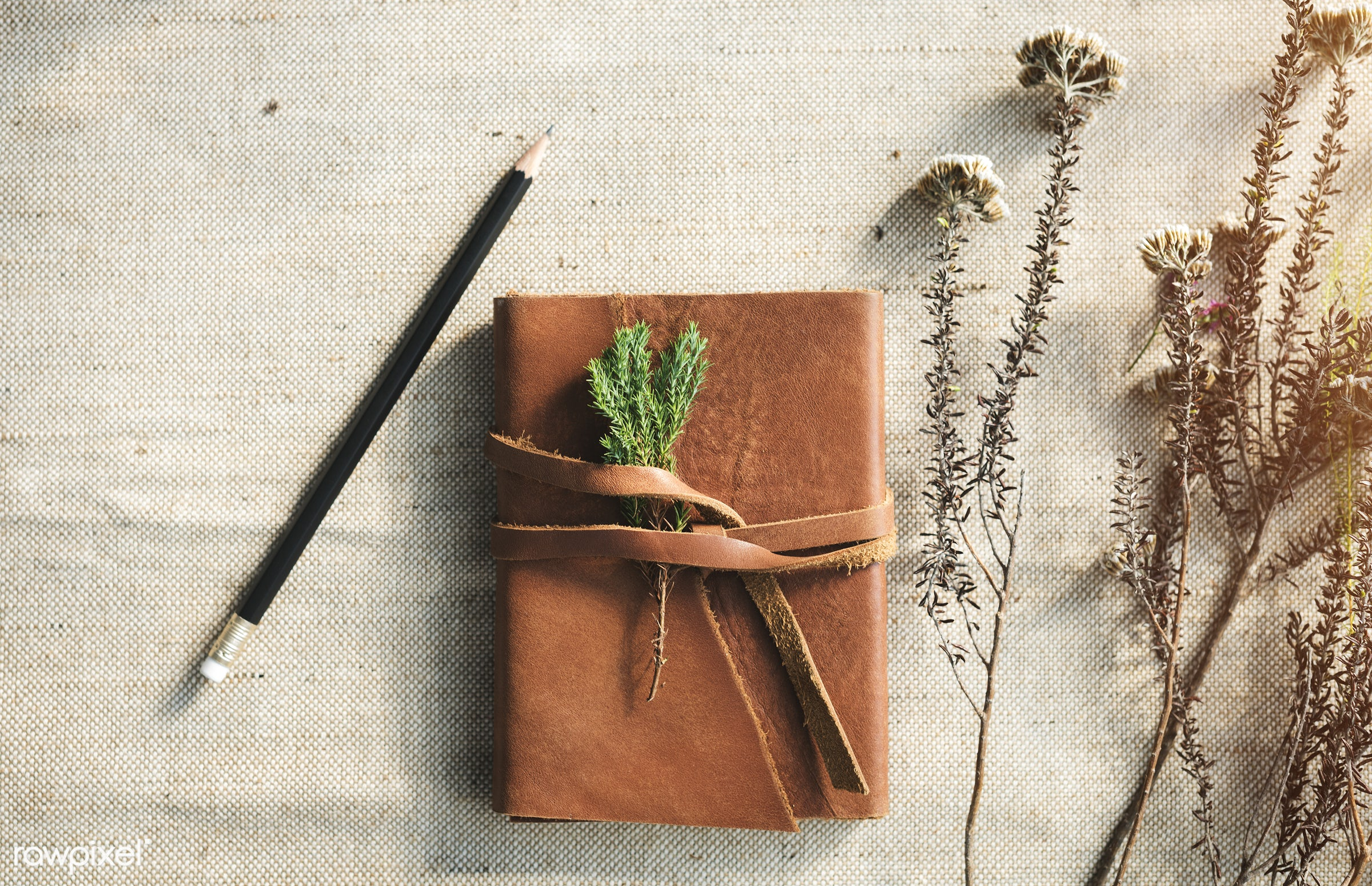 Flowers handicraft workshop - book, flower, serene, relax, notebook, note, stationery, leather, joy, solitude, smell, floral...