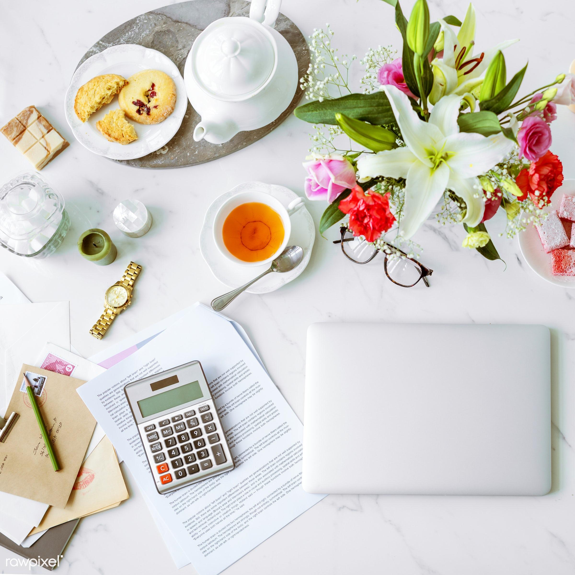 tea, break, business, communication, computer, connection, cookies, device, digital, entrepreneur, feminine, financial,...