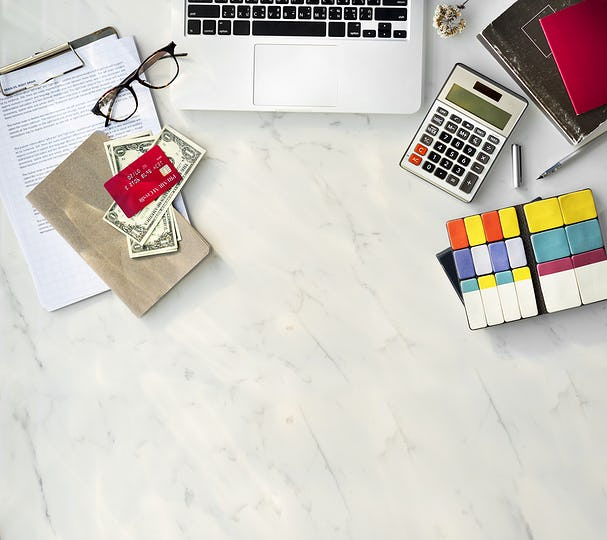 Accounting Workspace Finance Lifestyle Concept
