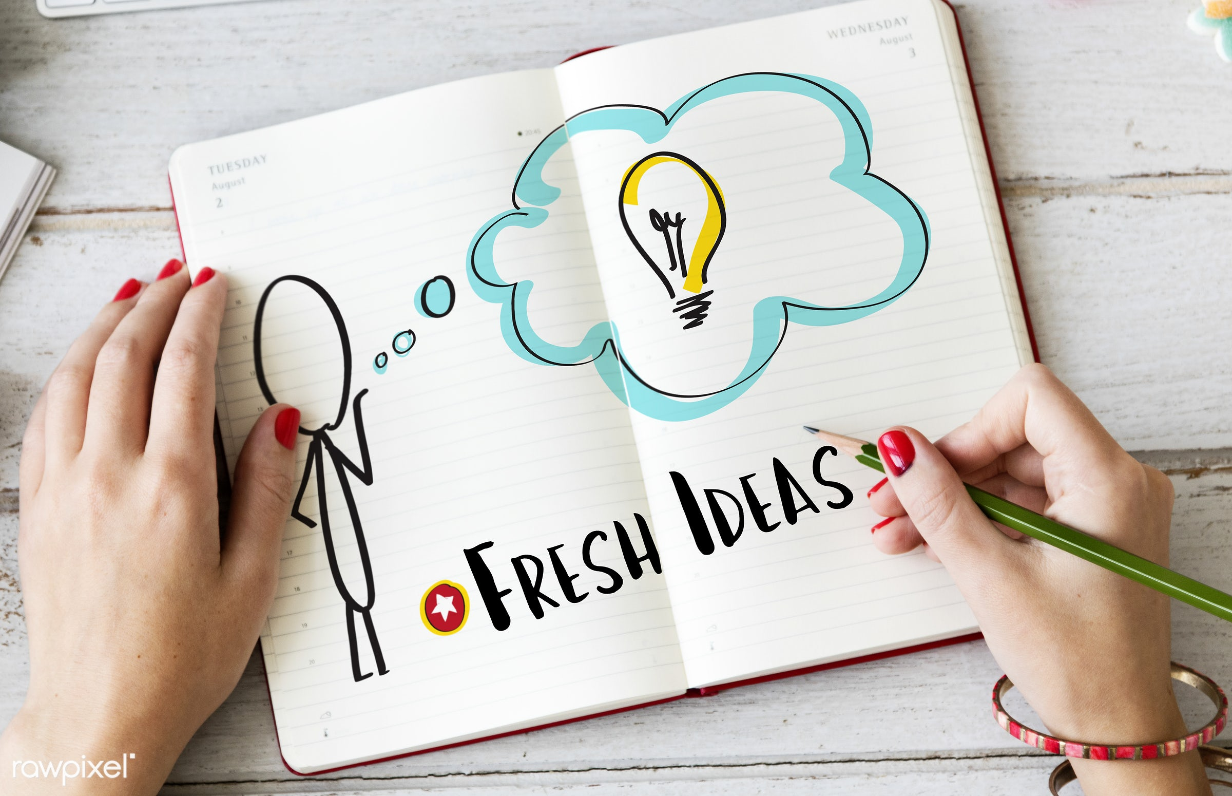aerial, book, caucasian, closeup, communication, creative, diary, hands, idea, ideas, journal, leisure, memory, notebook,...