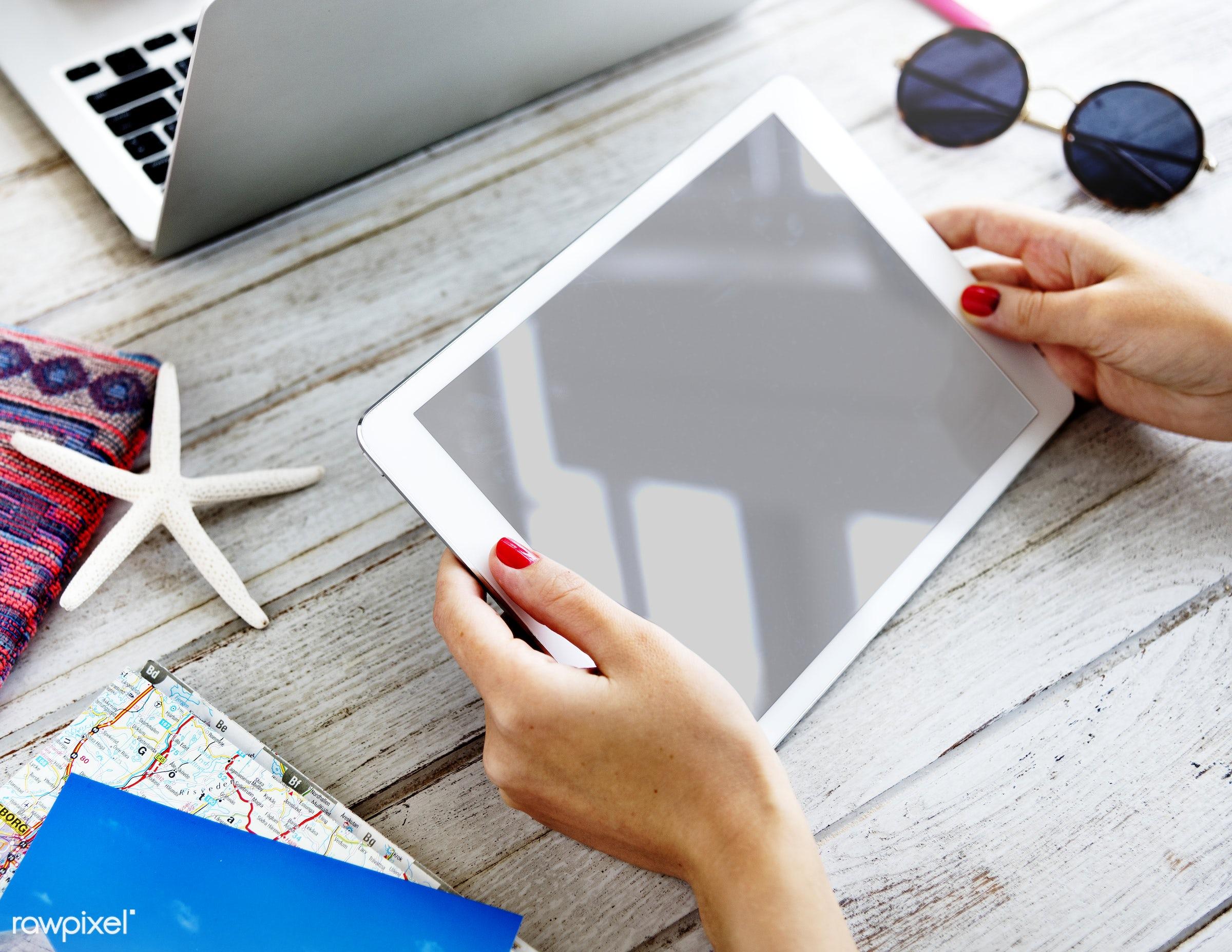 equipment, blank, closeup, communication, copy space, data, design space, devices, digital, digital device, digital tablet,...