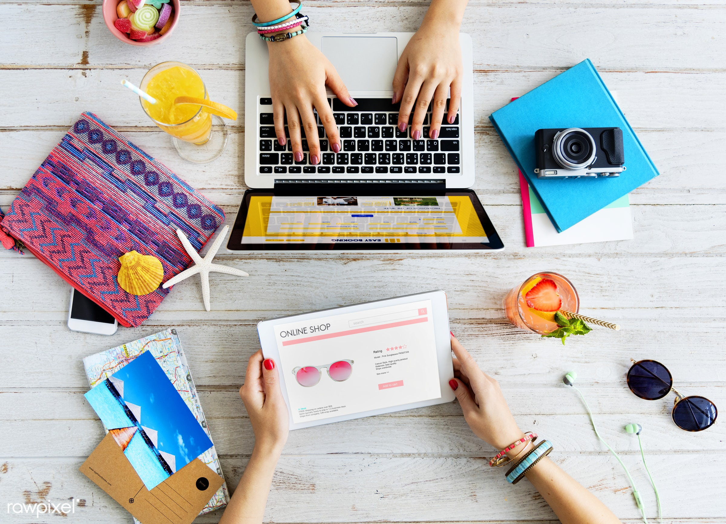 aerial, booking, closeup, computer, couple, desktop, device, digital, digital tablet, friends, hands, hobby, holiday, laptop...