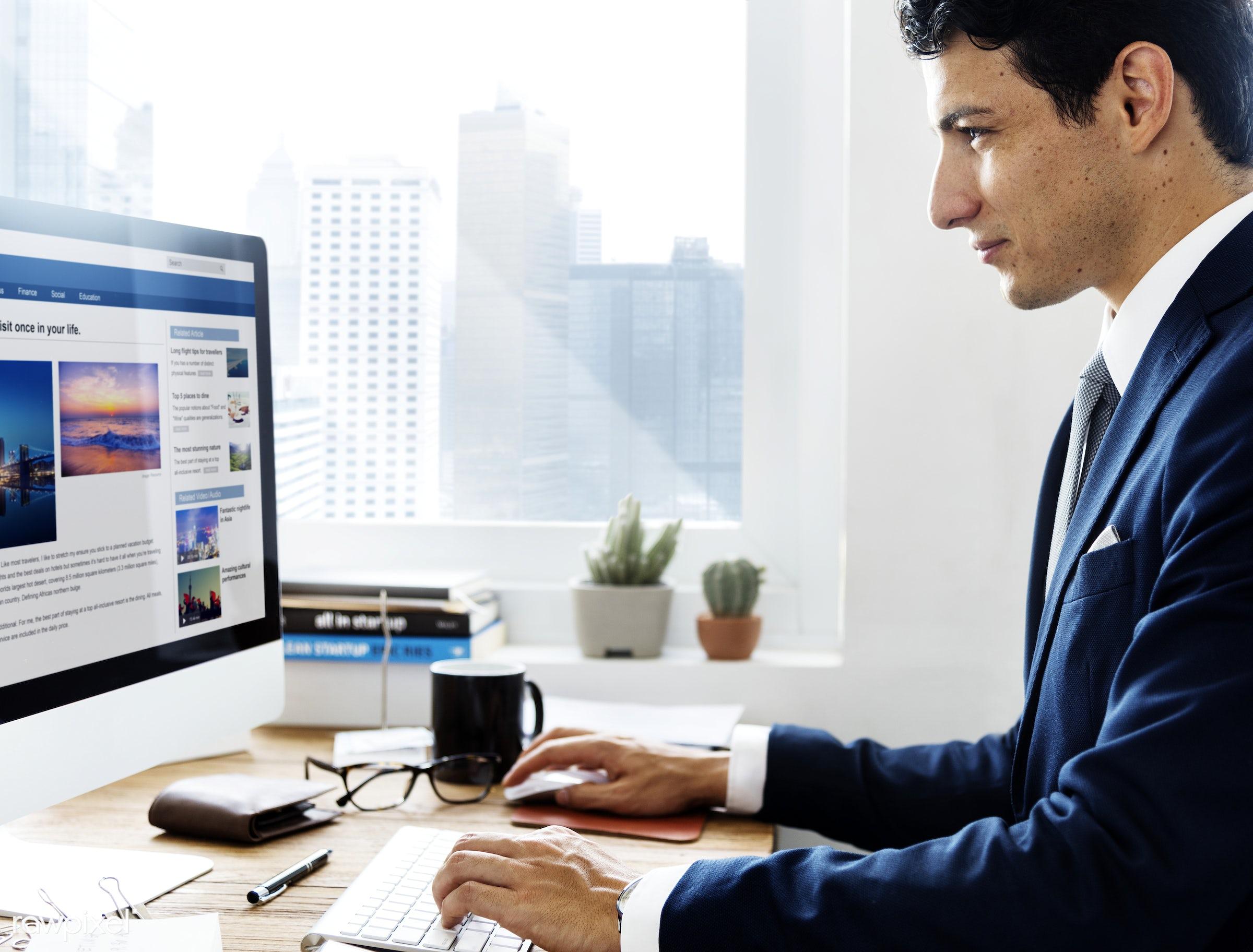 analytics, bar graph, book, business, business plan, businessman, busy, coffee, communication, computer, computer monitor,...