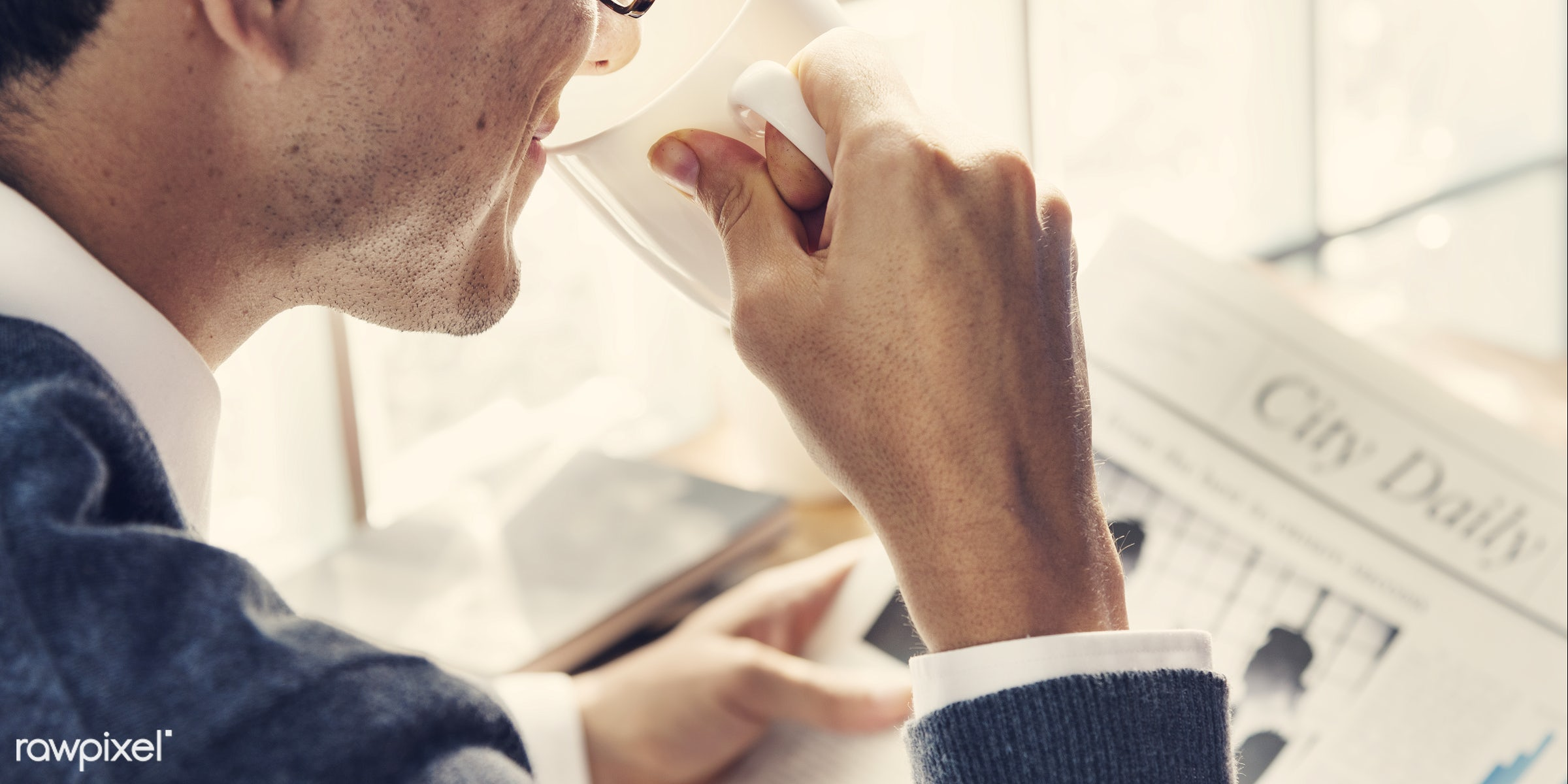 boss, article, break, business, business person, businessman, career, closeup, coffee, corporate, daily, drinking, economy,...