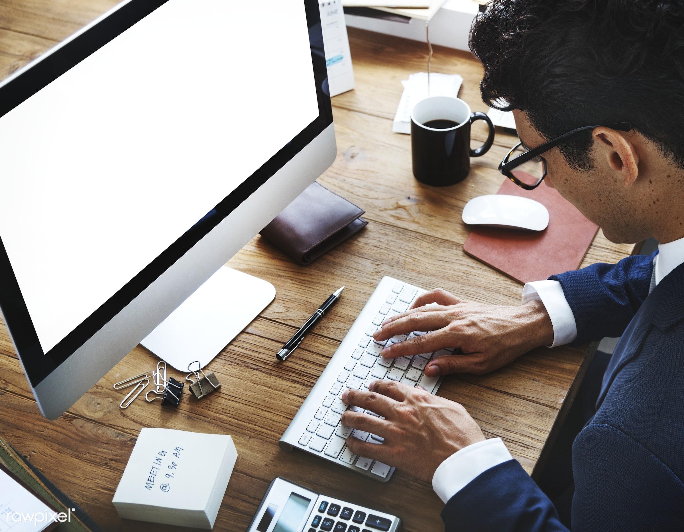 accounting, analysis, analytics, blank, business, businessman, busy, calculator, calendar, coffee, communication, computer,...