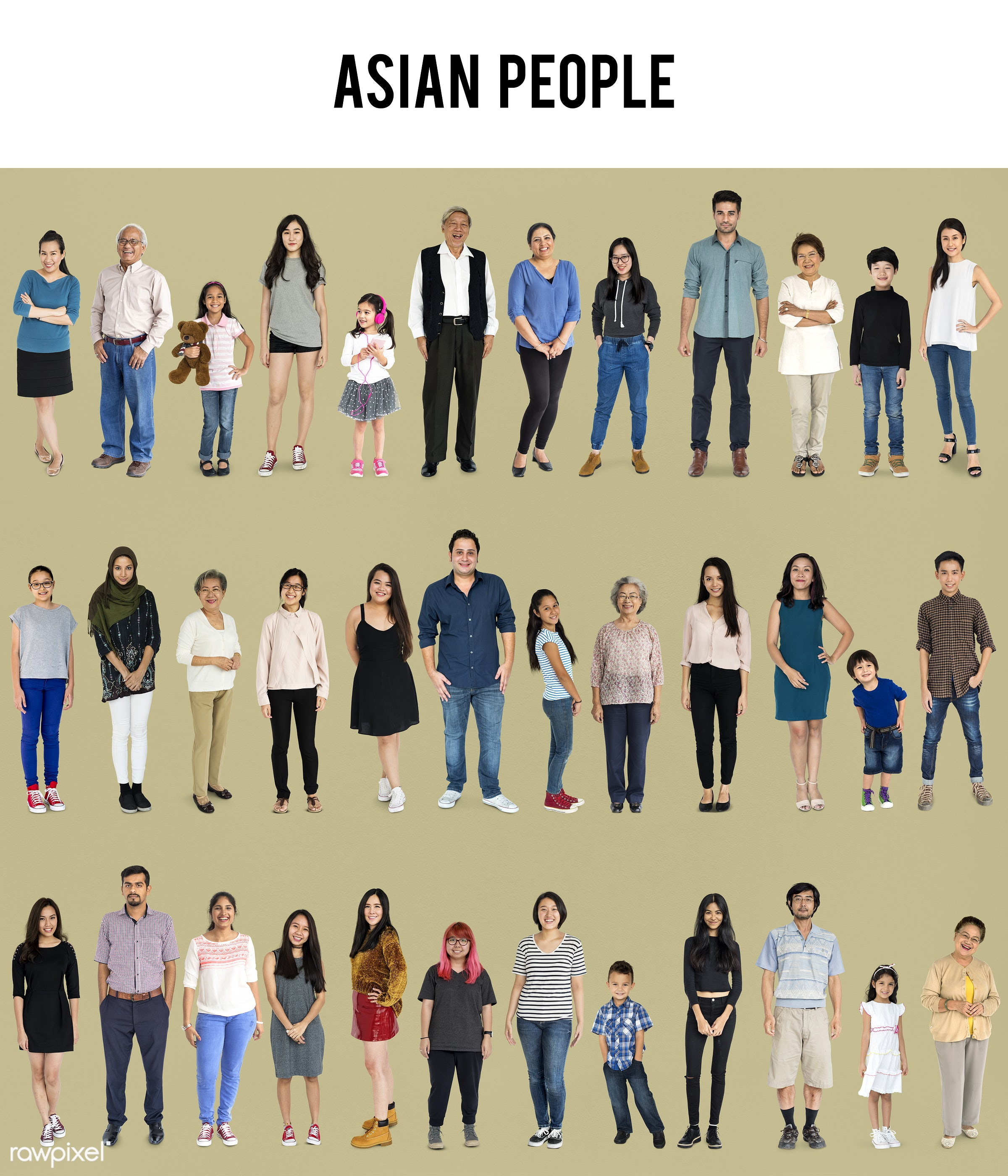expression, full length, diverse, personality, people, race, caucasian, asian, woman, lifestyle, studio squareset,...