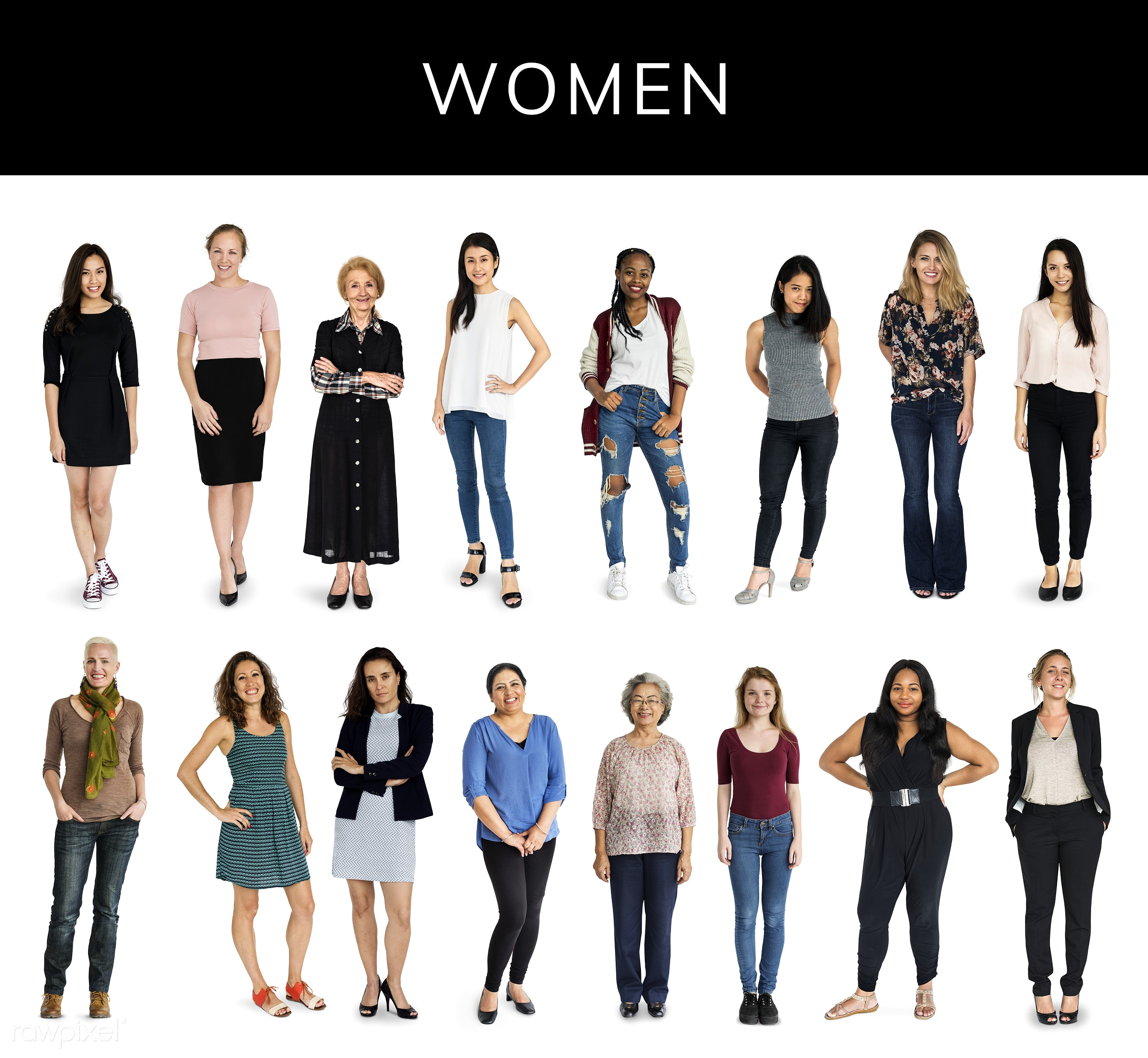 Diverse people set - studio, person, diverse, set, retired, little, collection, people, pretty, attraction, together,...