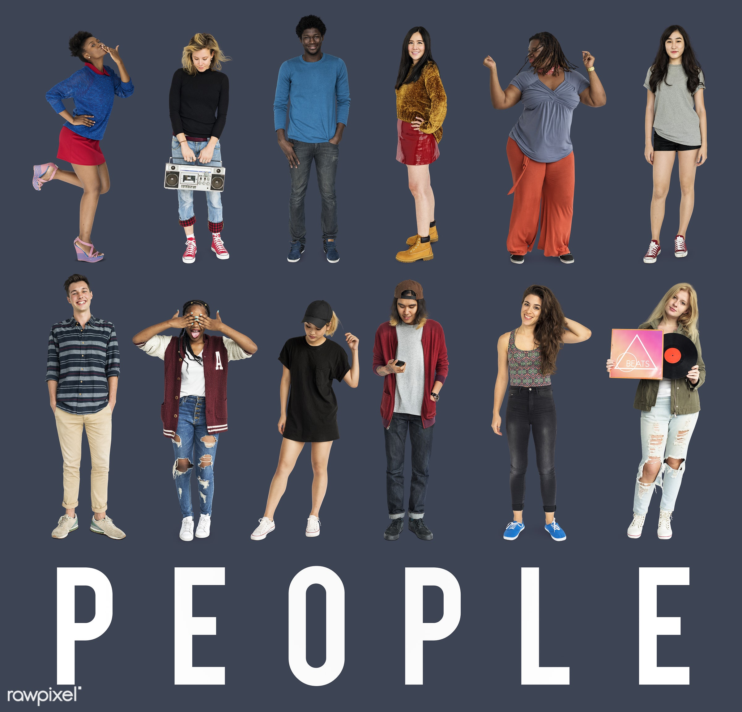 studio, person, diverse, set, collection, people, together, asian, caucasian, life, woman, lifestyle, mixed, studio...
