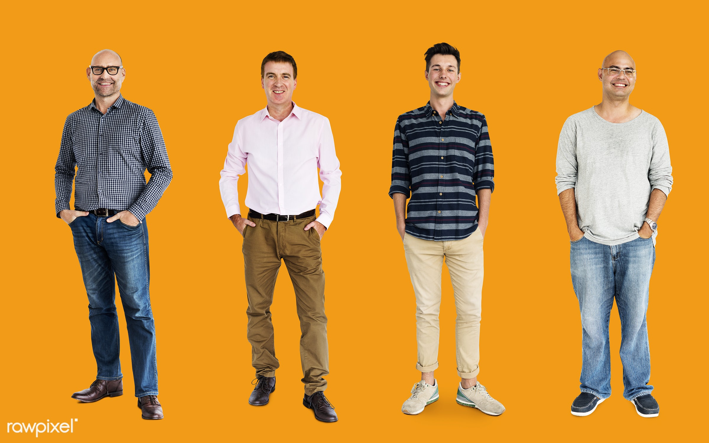 gentlemen, studio, person, diverse, relax, set, little, collection, people, together, attraction, caucasian, life,...