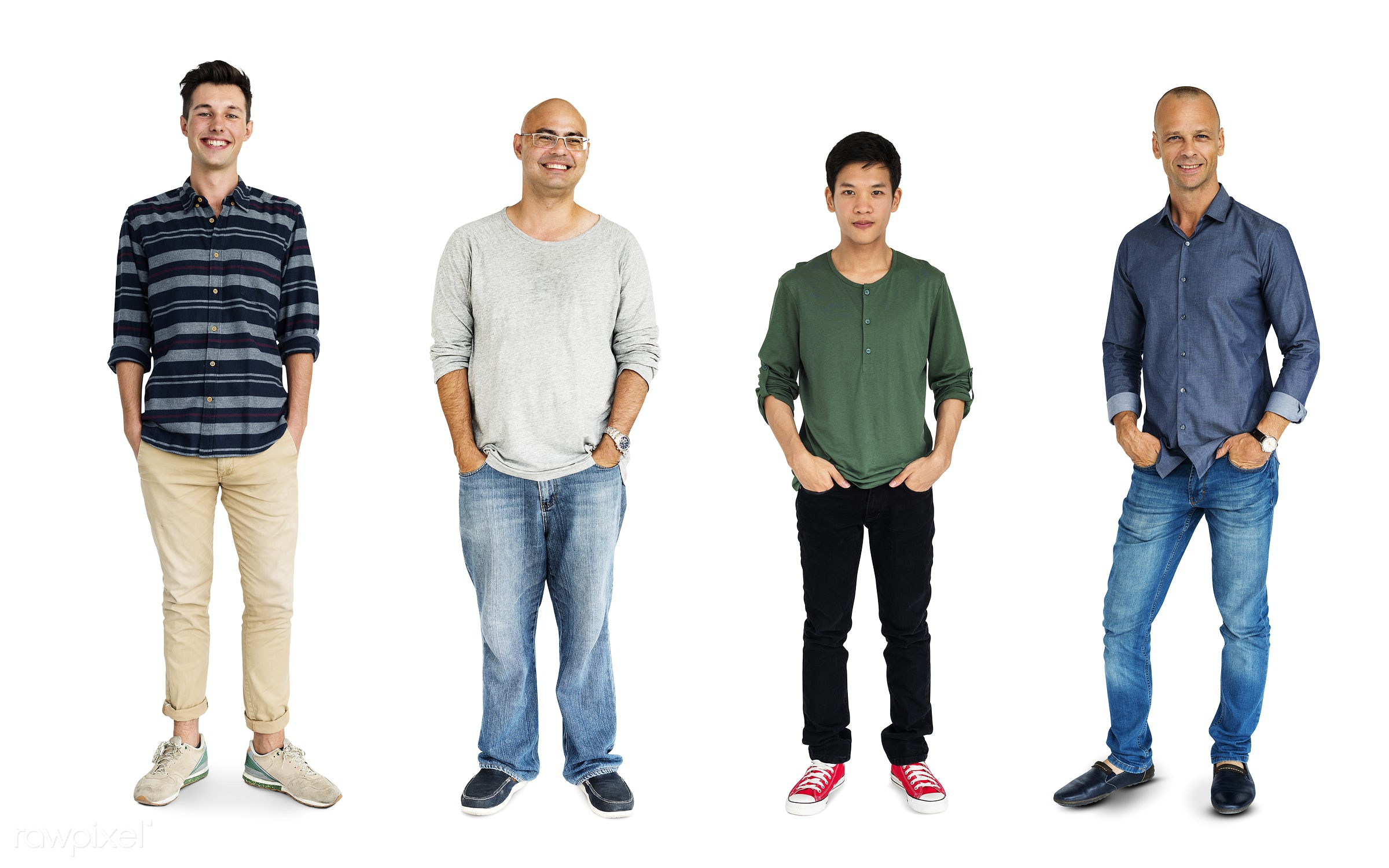 Diverse people set - studio, person, diverse, relax, set, little, collection, people, attraction, together, caucasian, asian...