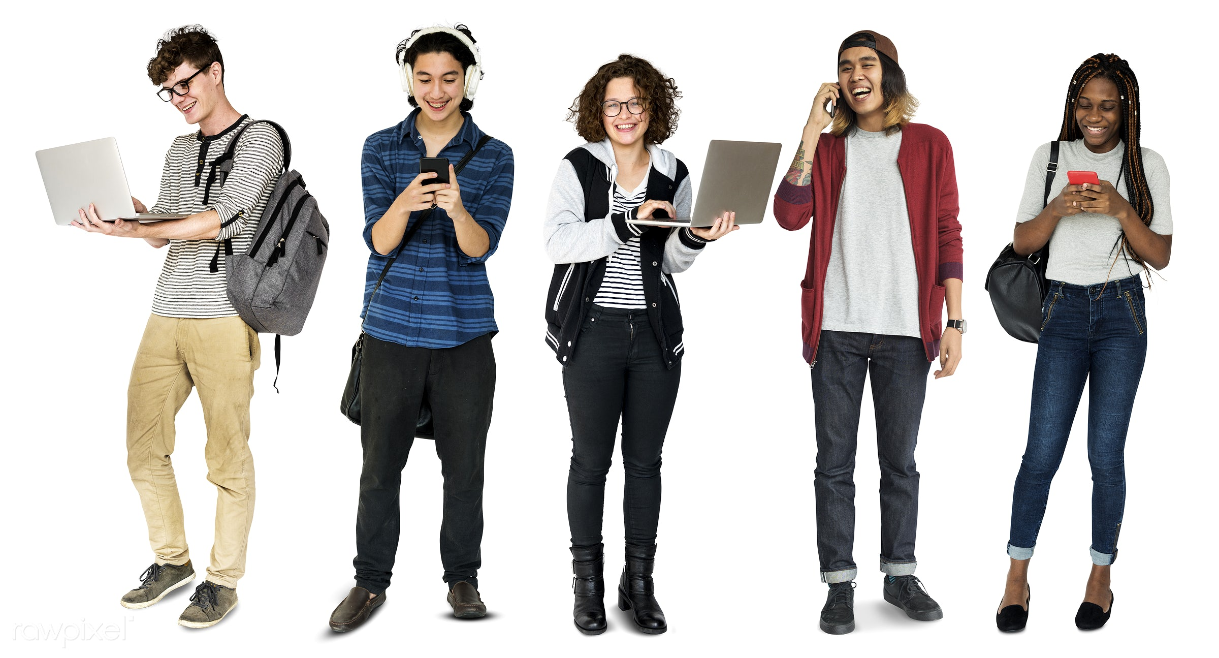 expression, studio, person, phone, technology, diverse, people, asian, caucasian, young adult, social, woman, lifestyle,...
