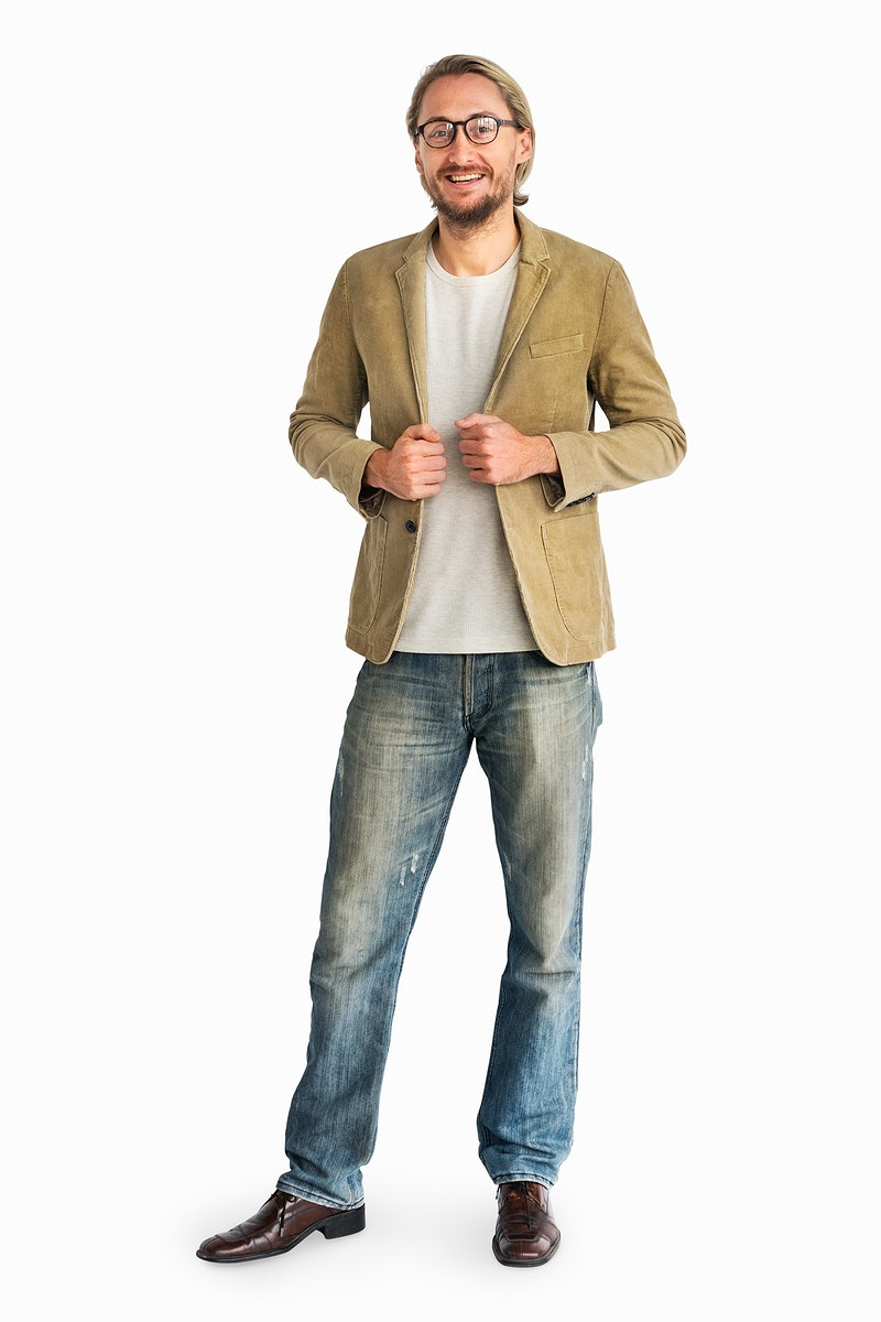 Cheerful casual man standing smiling
