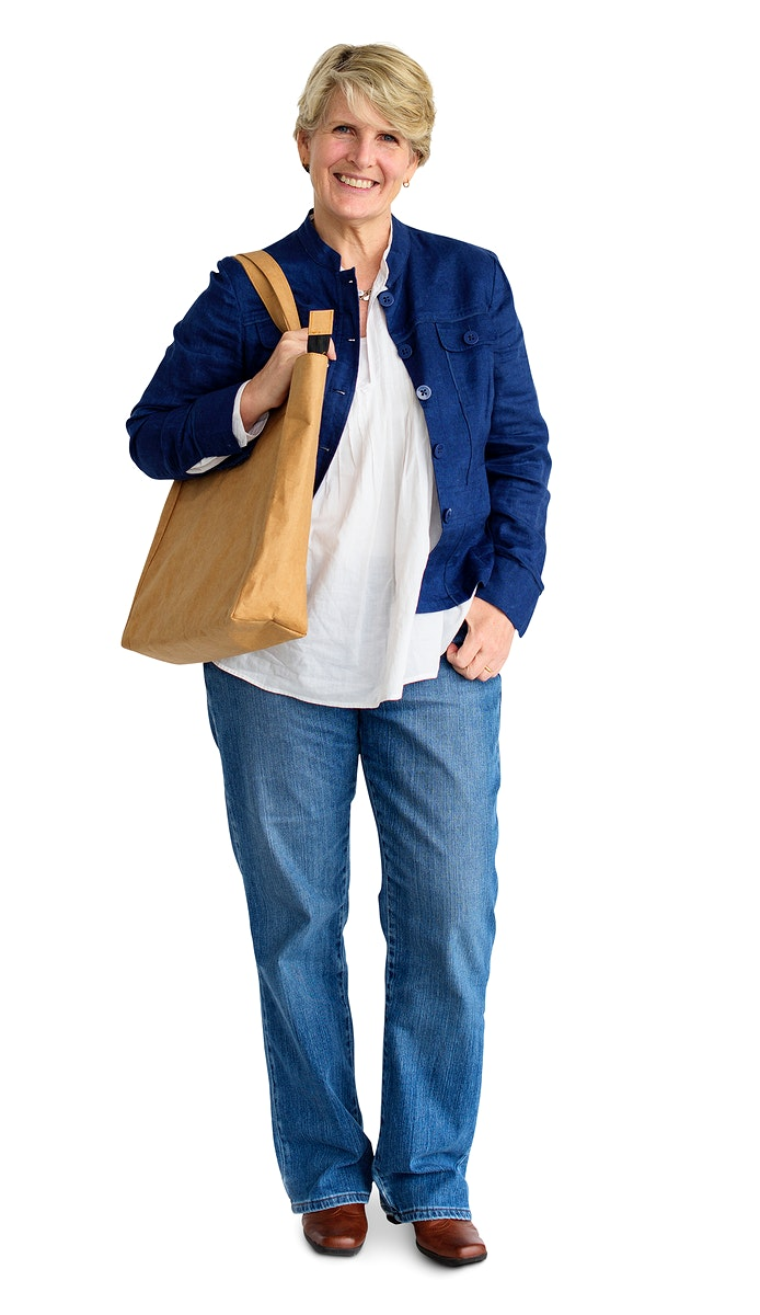 Casual woman carrying a bag