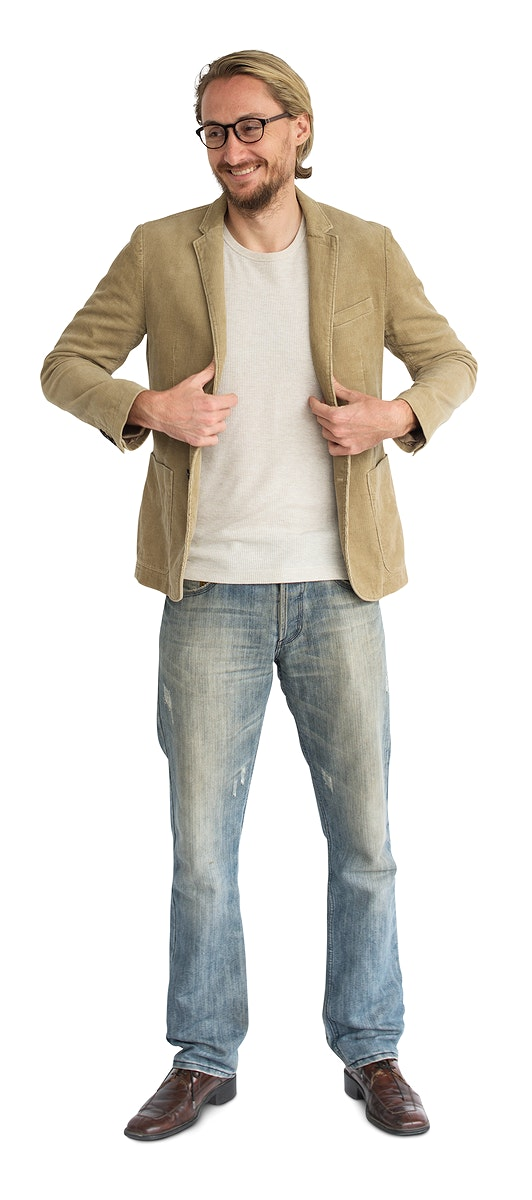 Casual man standing smiling