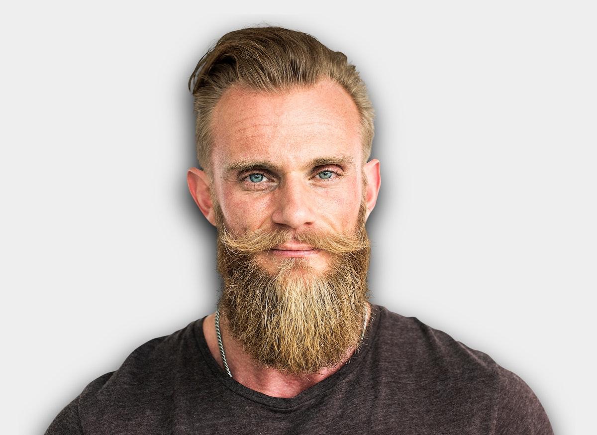 Bearded Hipster Man Smiling Portrait