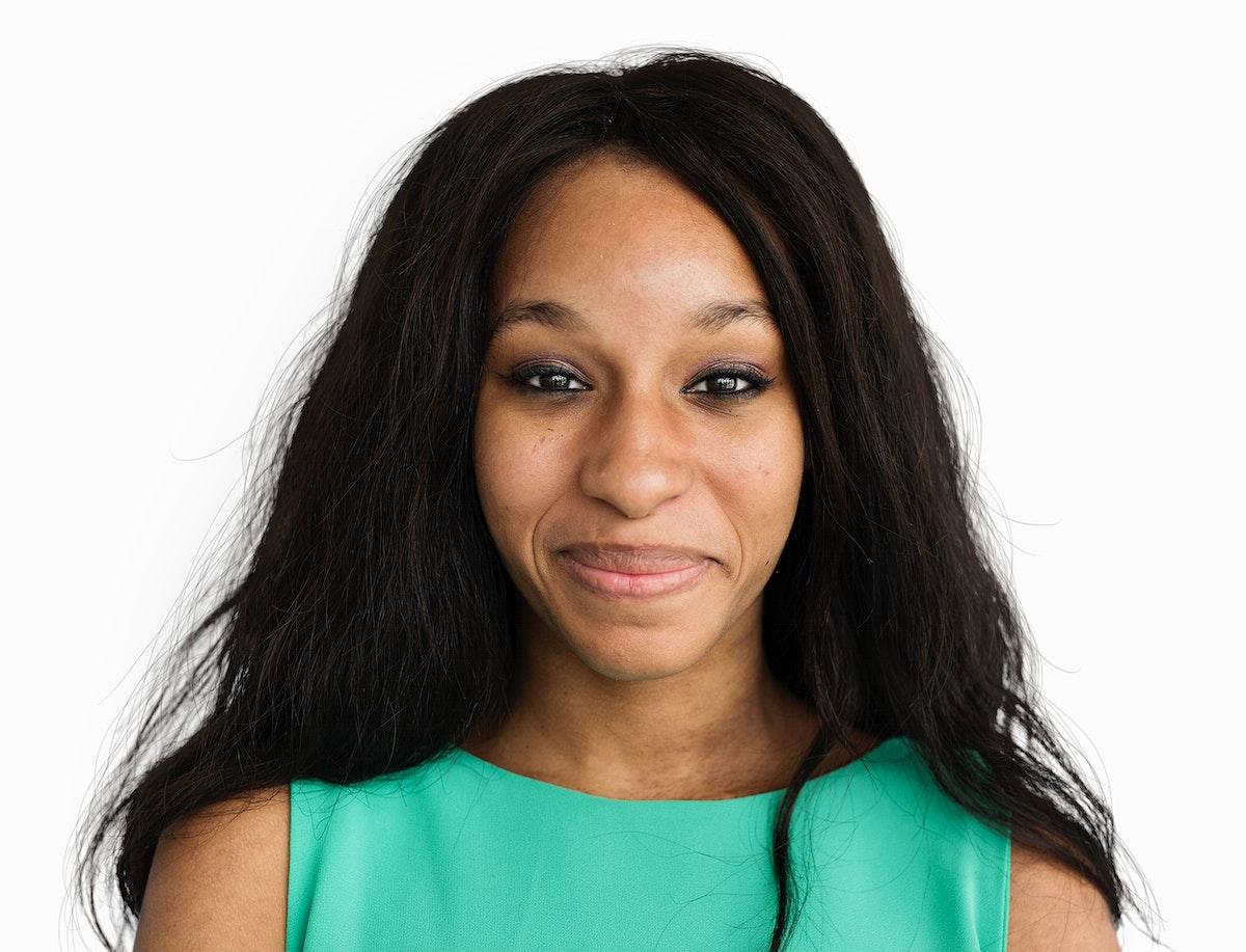 African Descent Woman Smiling Portrait