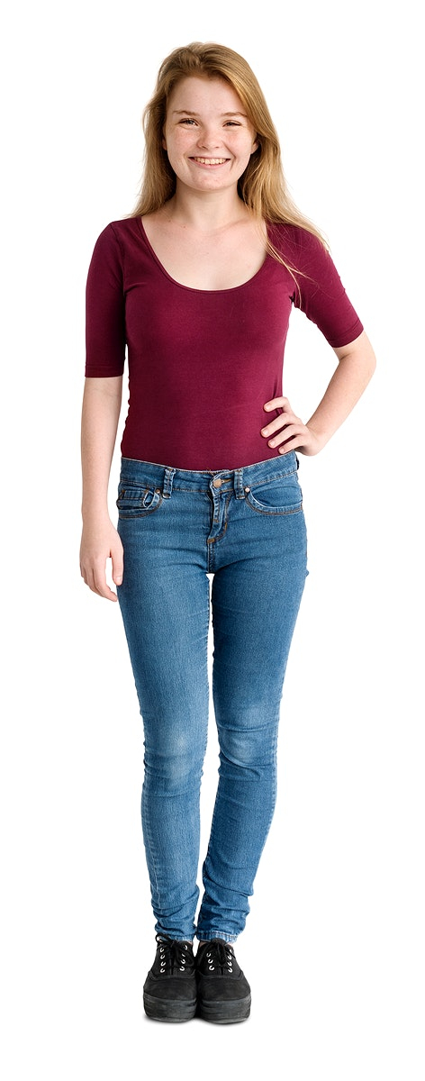 Casual woman standing smiling