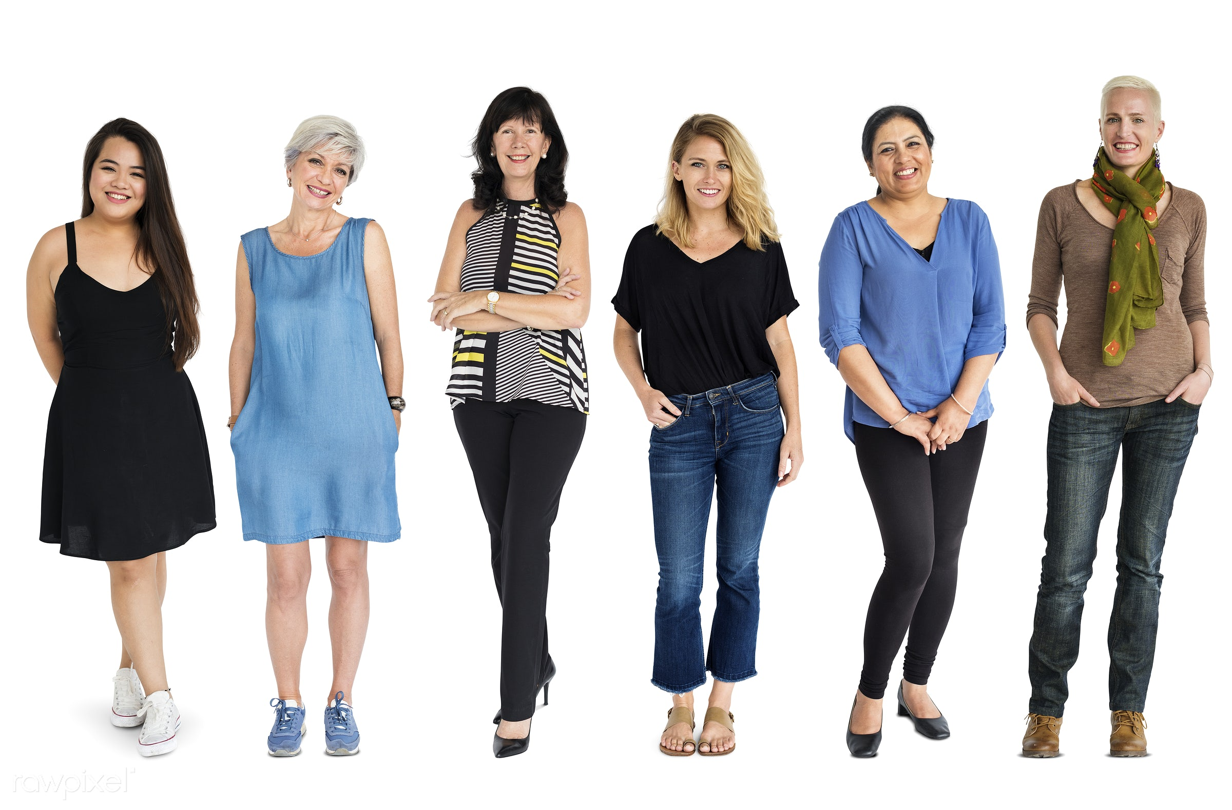 Diverse people set - studio, person, diverse, set, retired, little, collection, pretty, people, attraction, together,...