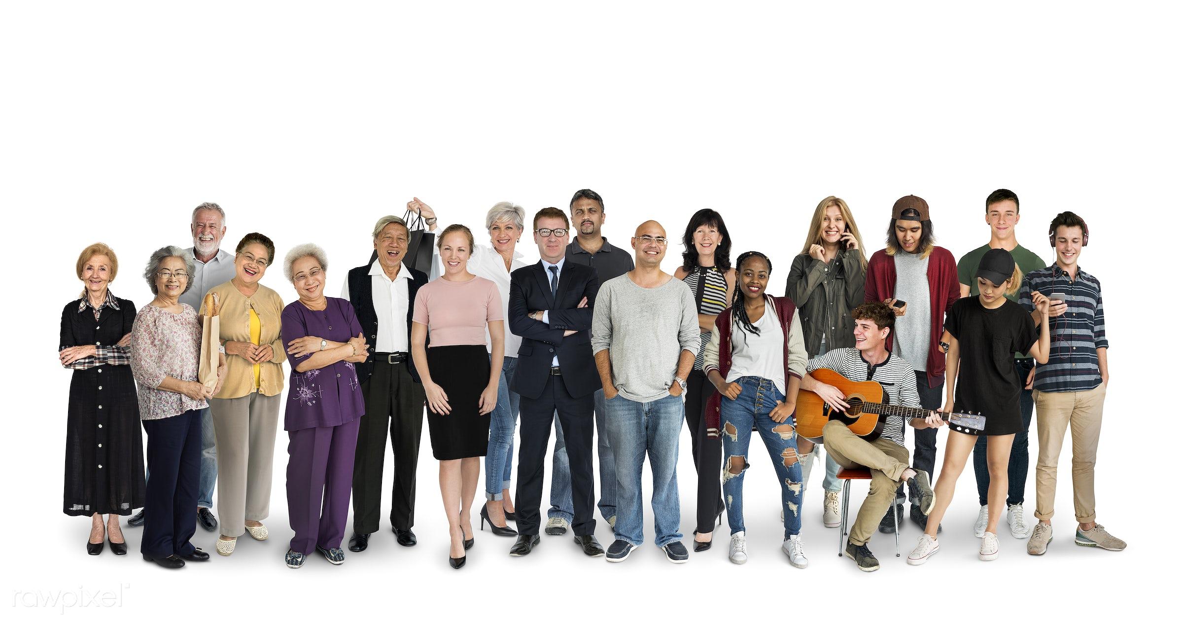 expression, studio, person, diverse, people, together, asian, caucasian, kid, retirement, woman, lifestyle, studio squareset...