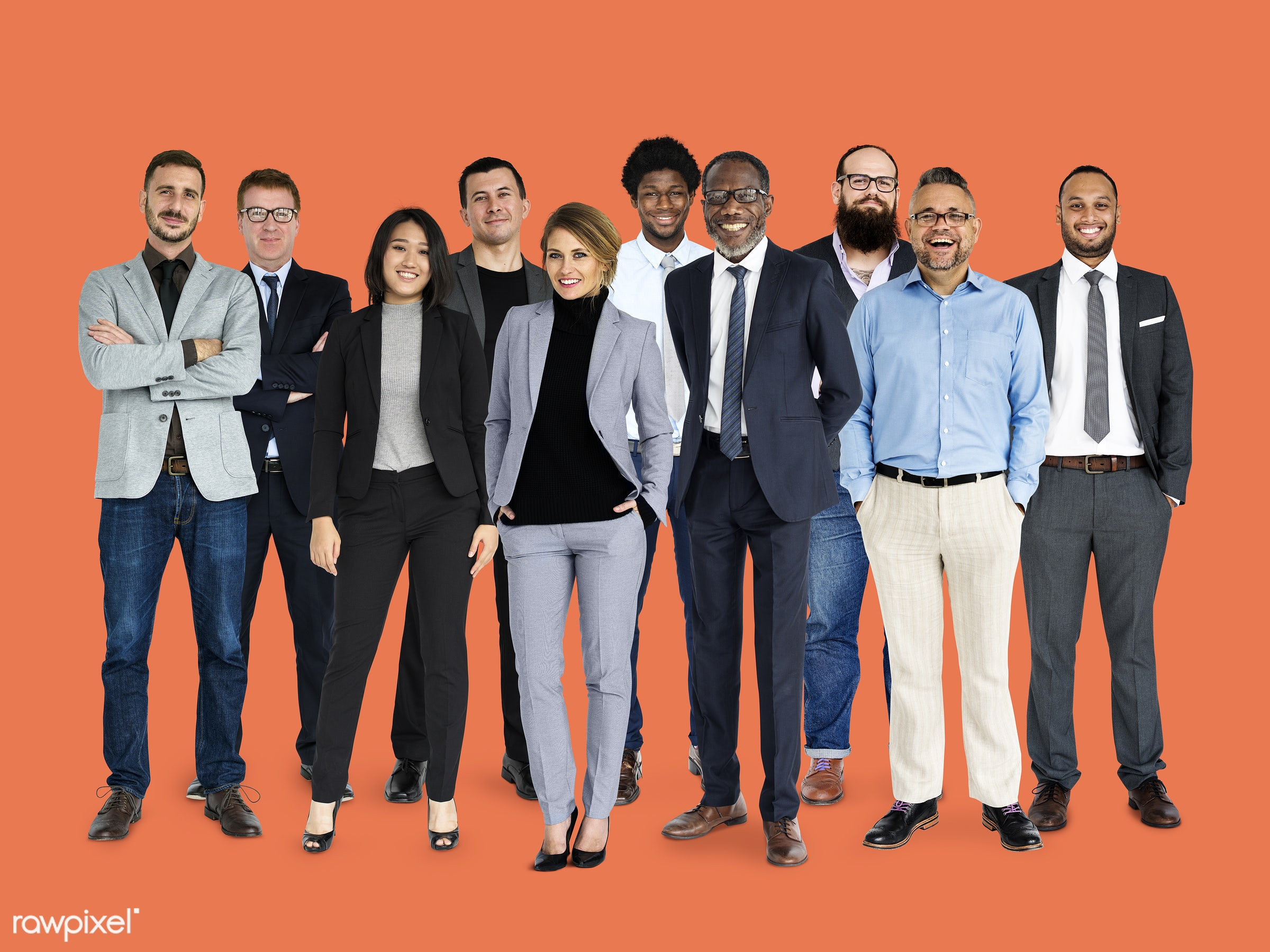 studio, person, diverse, tie, set, collection, people, business, together, caucasian, asian, life, businessman,...