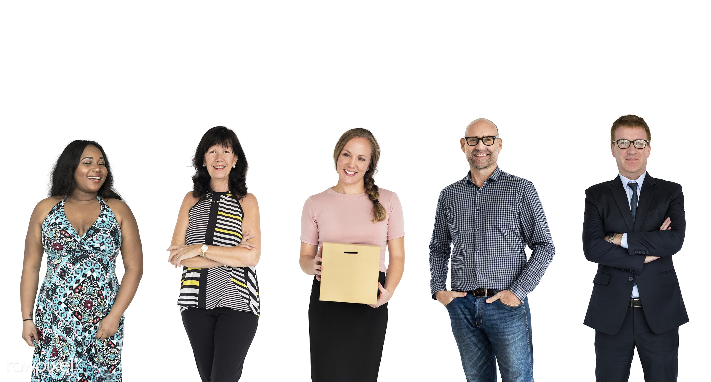 Diverse people set - adult, business, businessman, businessmen, businesswoman, businesswomen, career, cheerful, collection,...