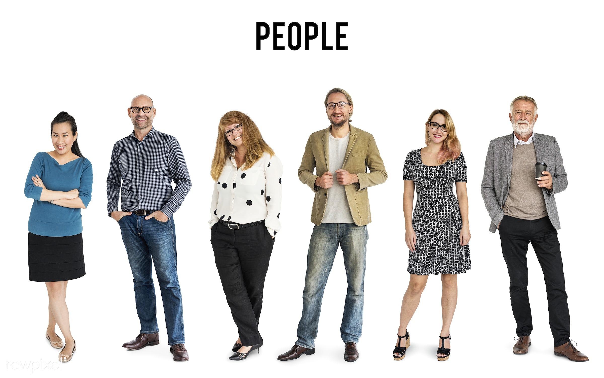 Diverse people set - gentlemen, studio, person, diverse, set, retired, retire, people, attraction, together, caucasian,...