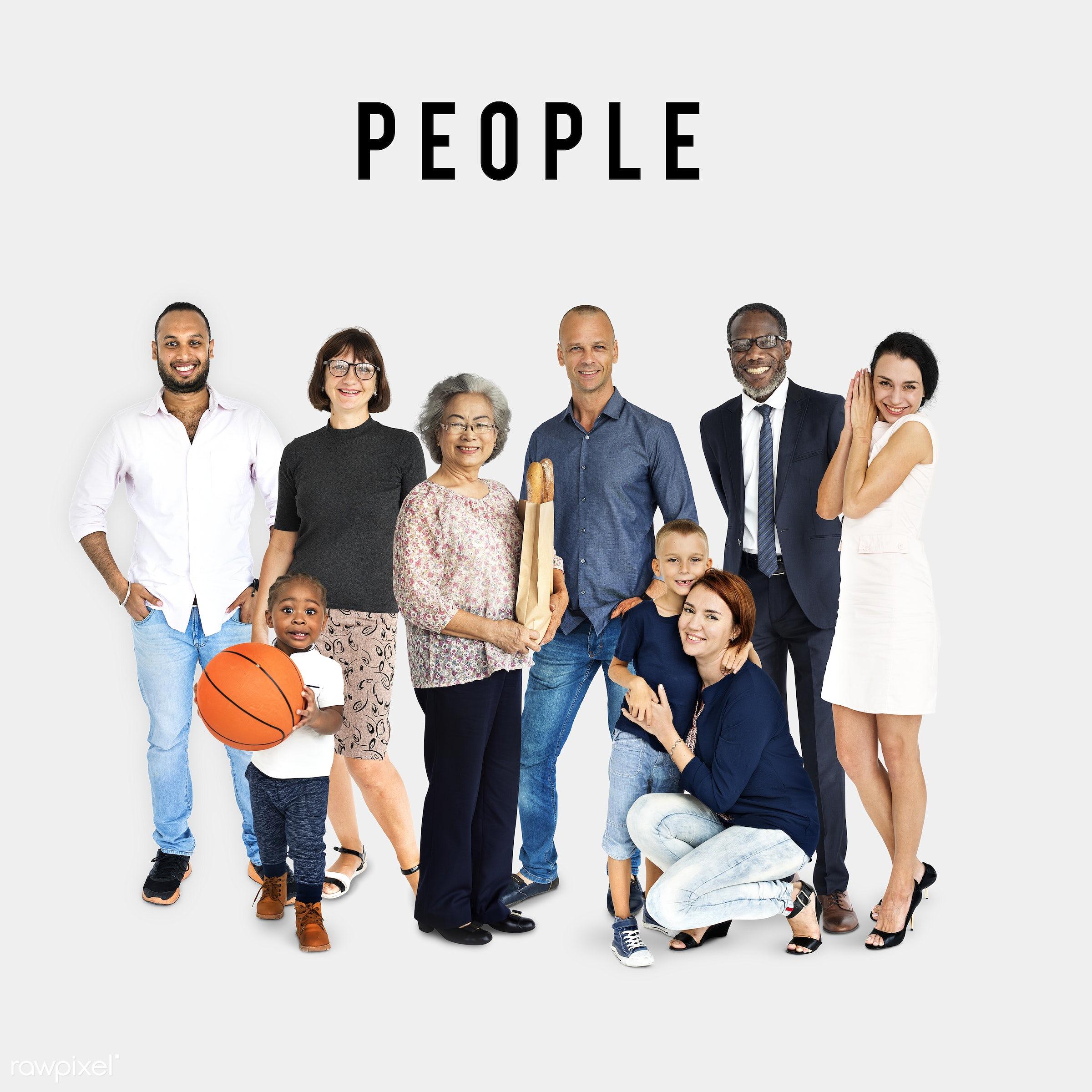 Diverse people set - gentlemen, studio, person, diverse, set, children, little, collection, people, attraction, together,...